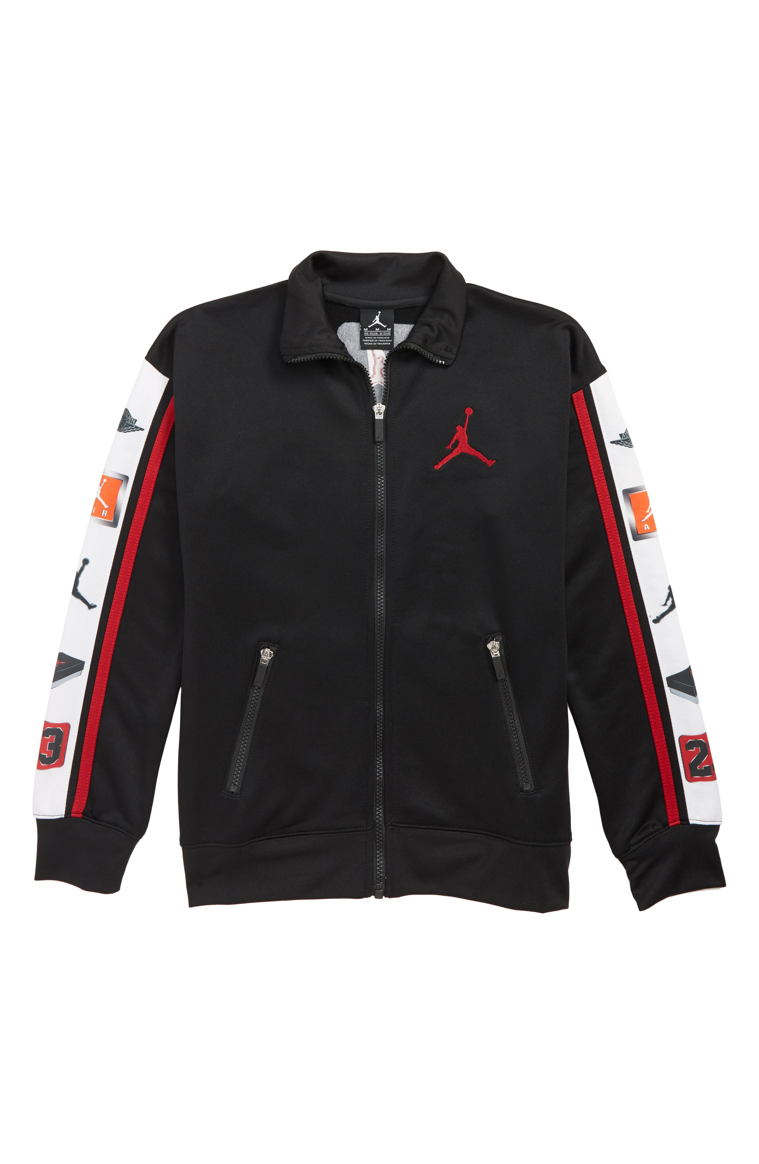 Jordan Celebrity Air Jordan Track Jacket,                             Main thumbnail 1, color,                             BLACK