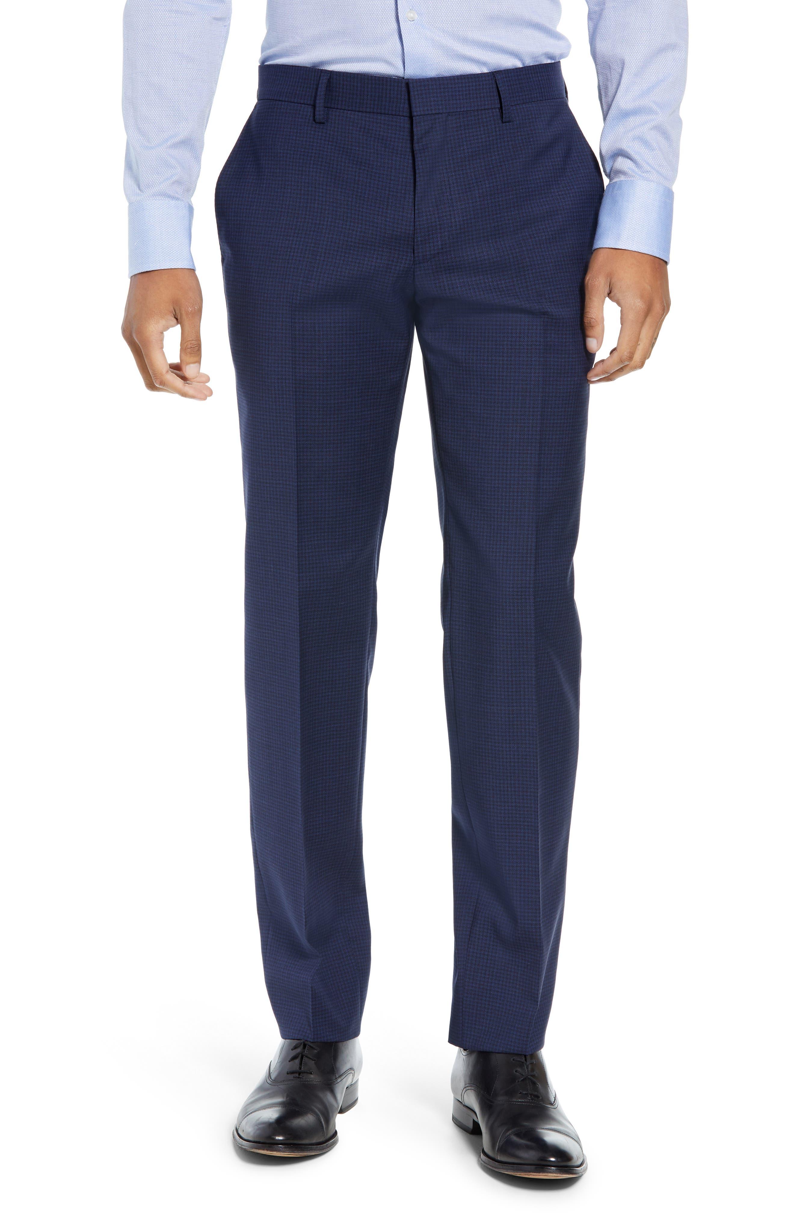 Huge/Genius Trim Fit Solid Wool Suit,                             Alternate thumbnail 6, color,                             DARK BLUE
