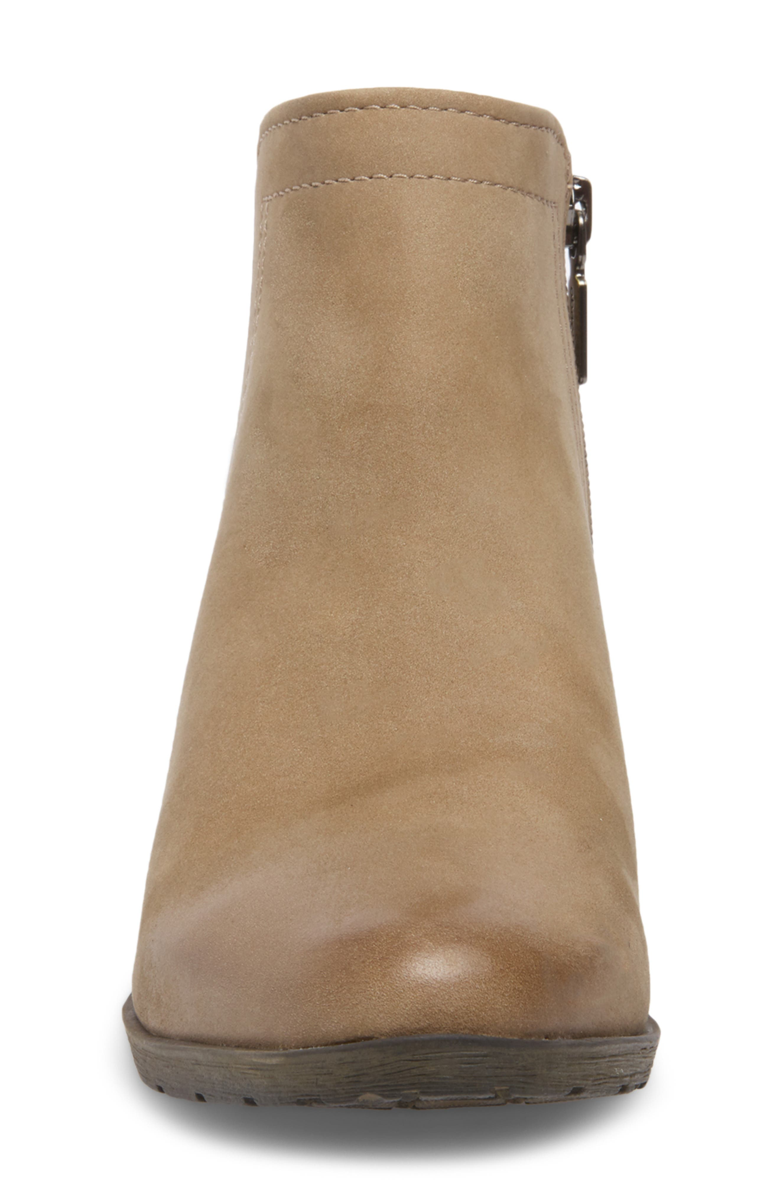 'Valli' Waterproof  Bootie,                             Alternate thumbnail 4, color,                             MUSHROOM NUBUCK
