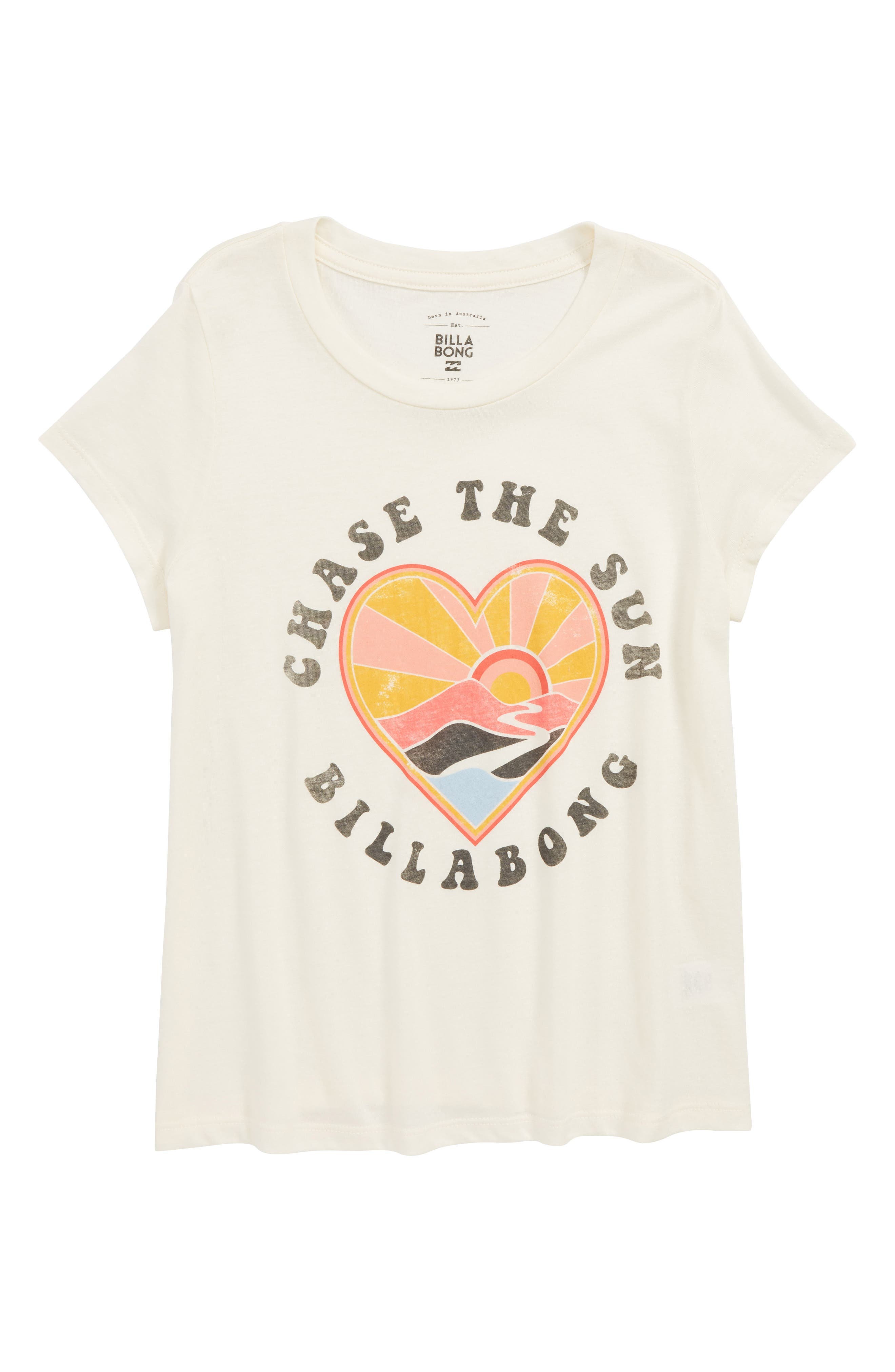 Chase the Sun Graphic Tee,                         Main,                         color, CREAM