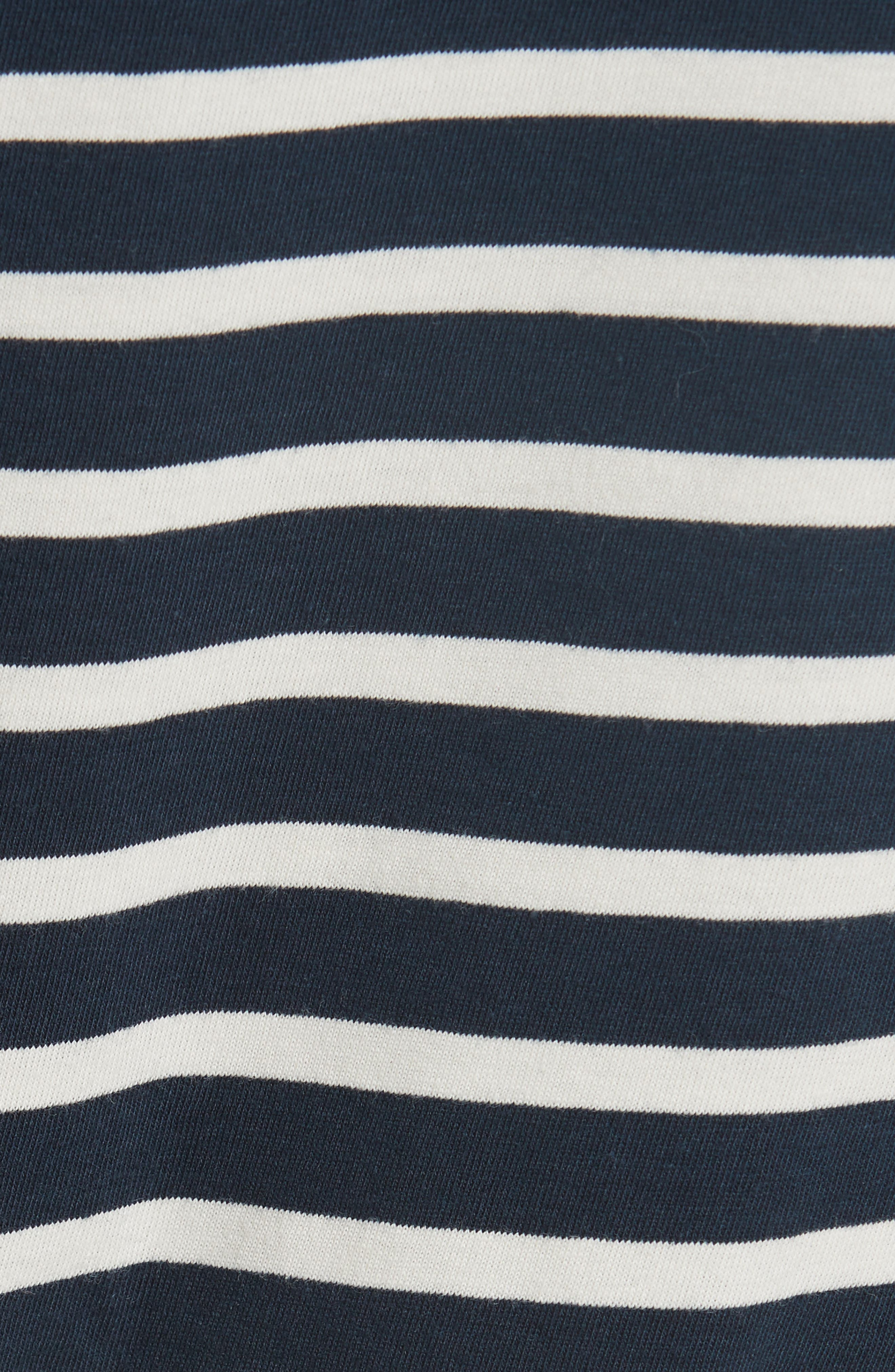 The Modern Stripe Cotton Tee,                             Alternate thumbnail 5, color,                             NAVY/ CREAM