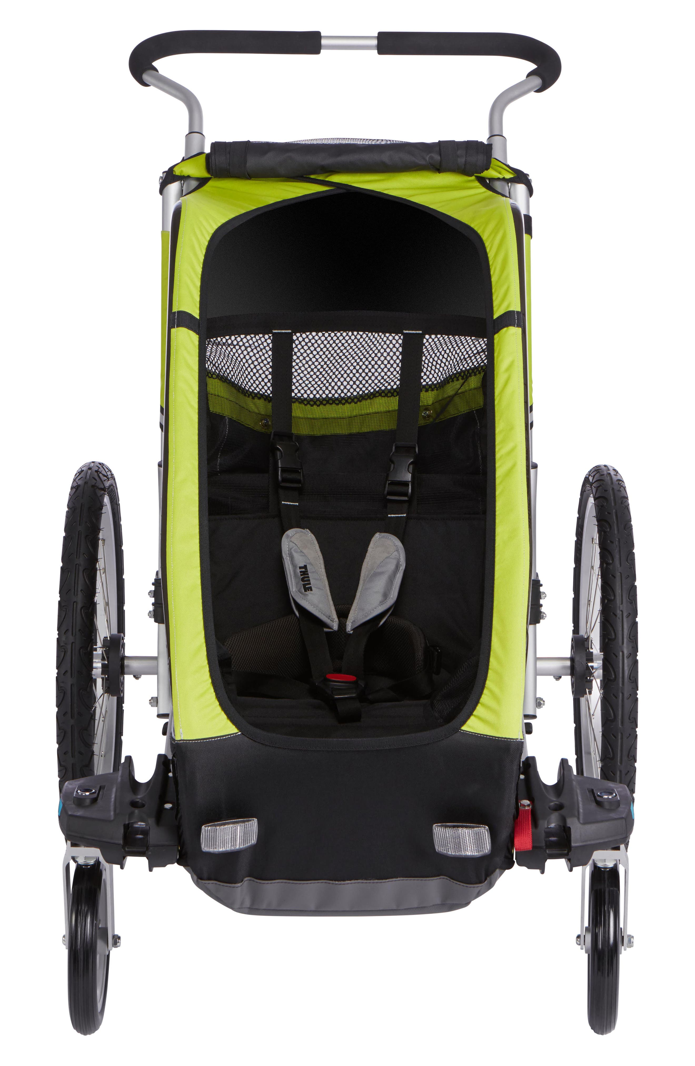 Chariot Cheetah XT 2 Multisport Cycle Trailer/Stroller,                         Main,                         color, CHARTREUSE