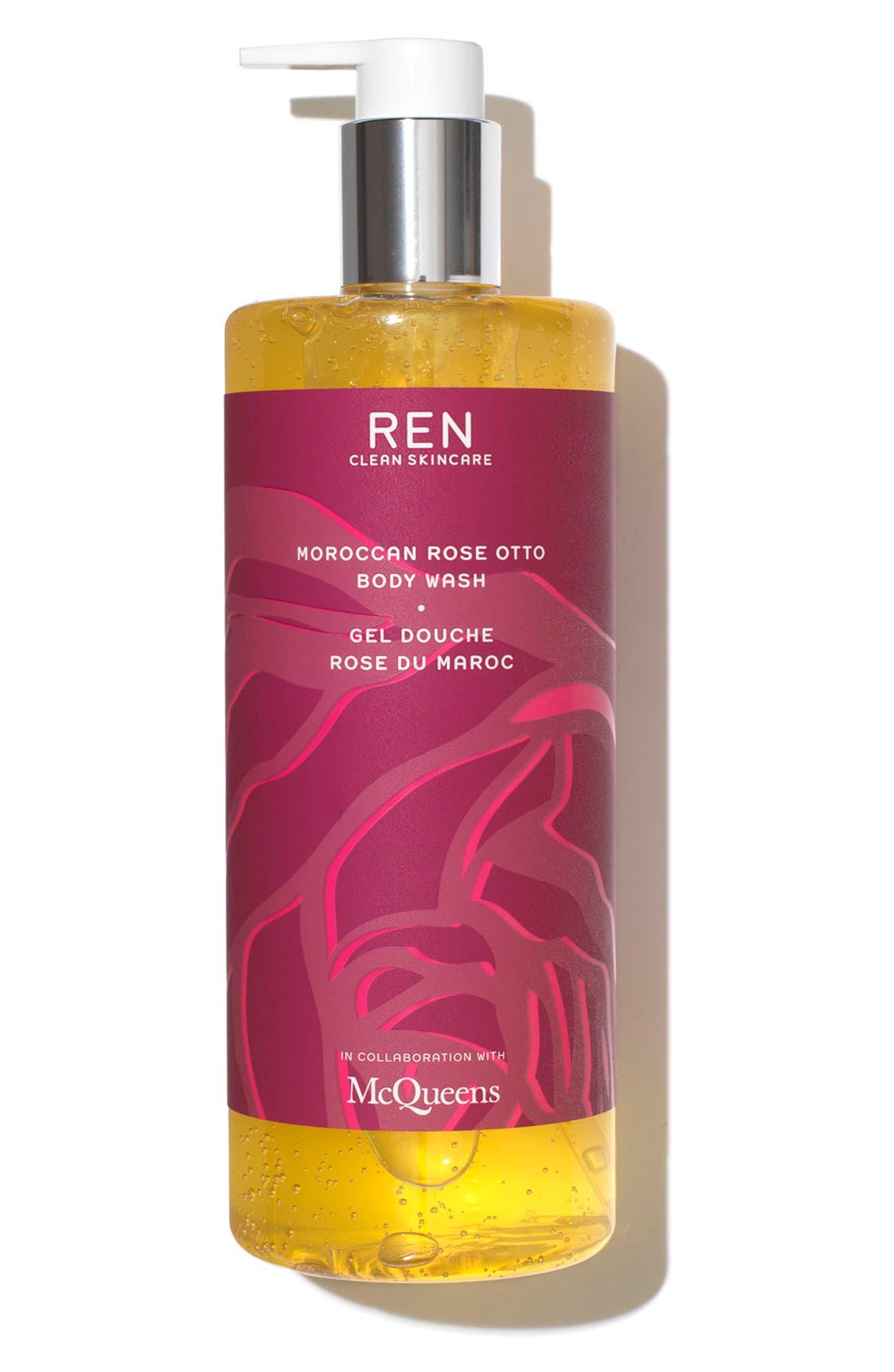 SPACE.NK.apothecary REN McQueens Moroccan Rose Otto Body Wash,                             Main thumbnail 1, color,                             000
