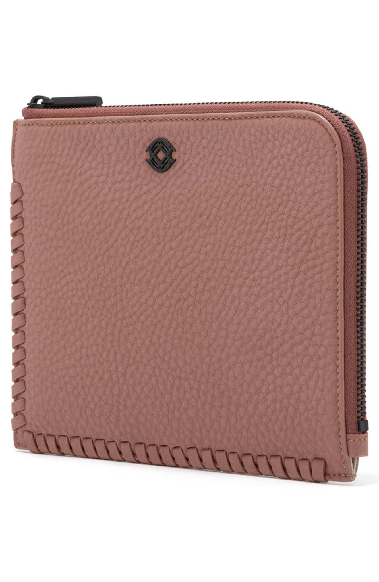Small Elle Leather Clutch,                             Alternate thumbnail 31, color,