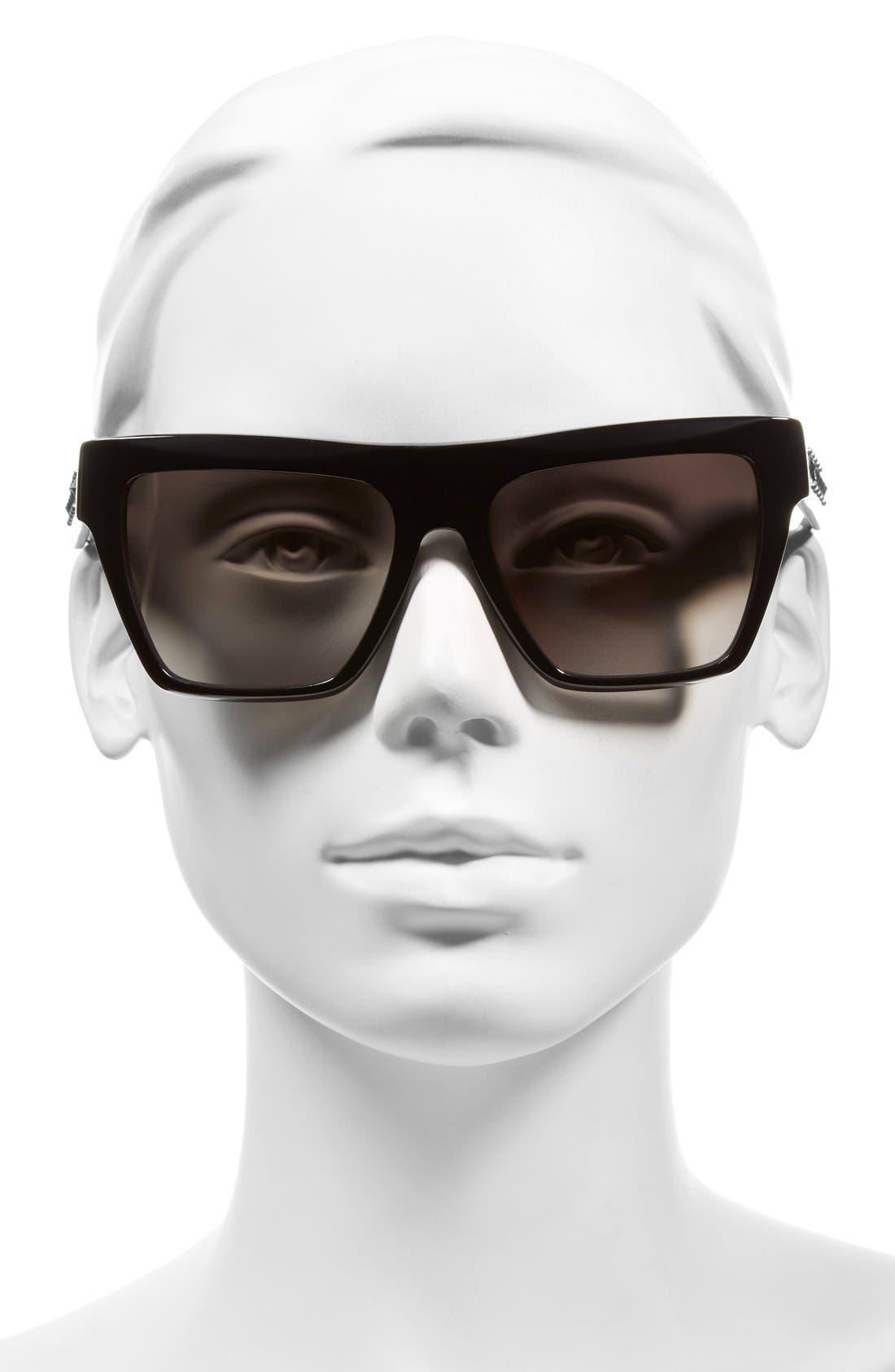 55mm Studded Navigator Sunglasses,                             Alternate thumbnail 4, color,