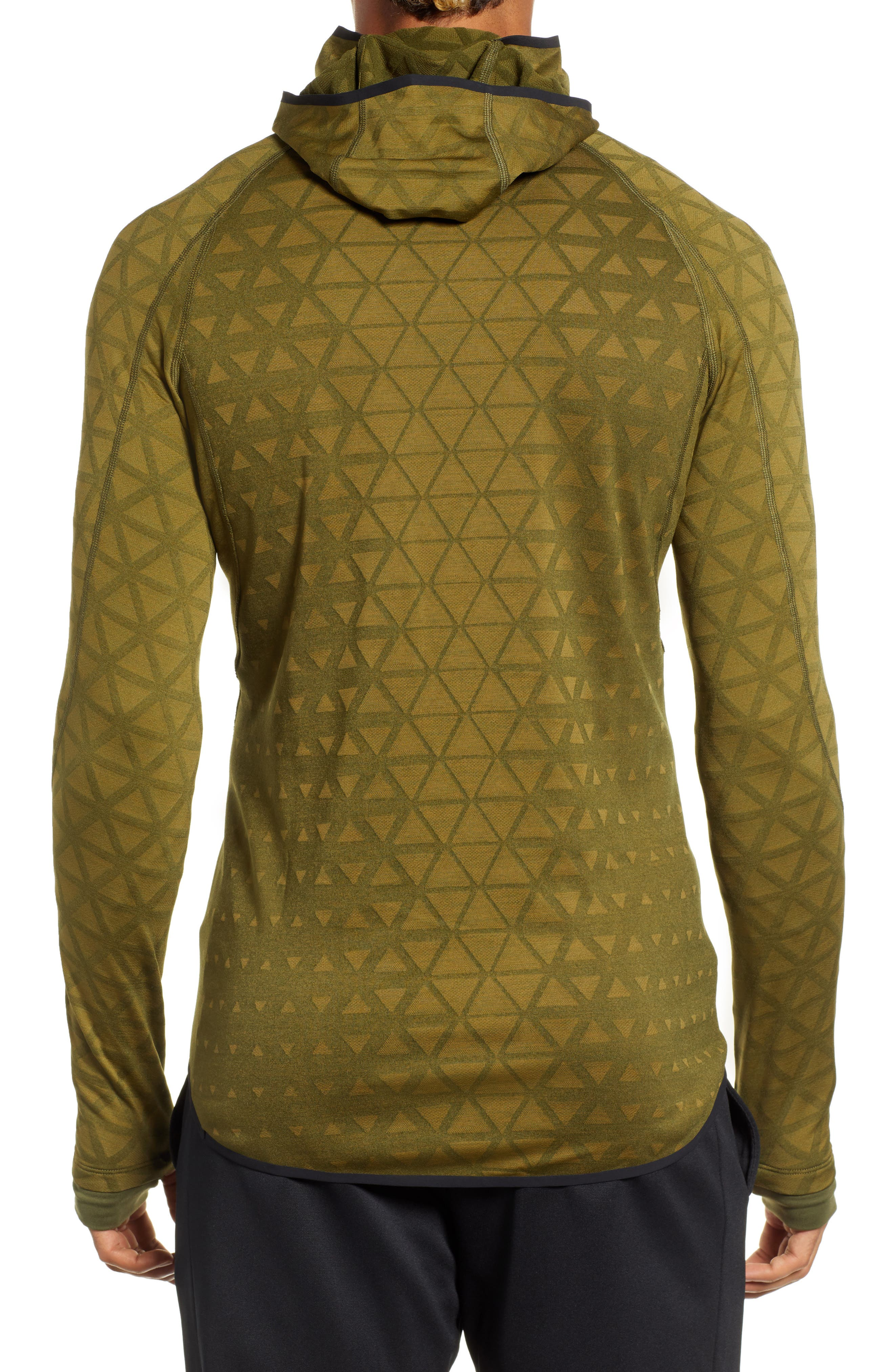 Therma Sphere Hooded Training Top,                             Alternate thumbnail 2, color,                             OLIVE/ OLIVE FLAK/ BLACK