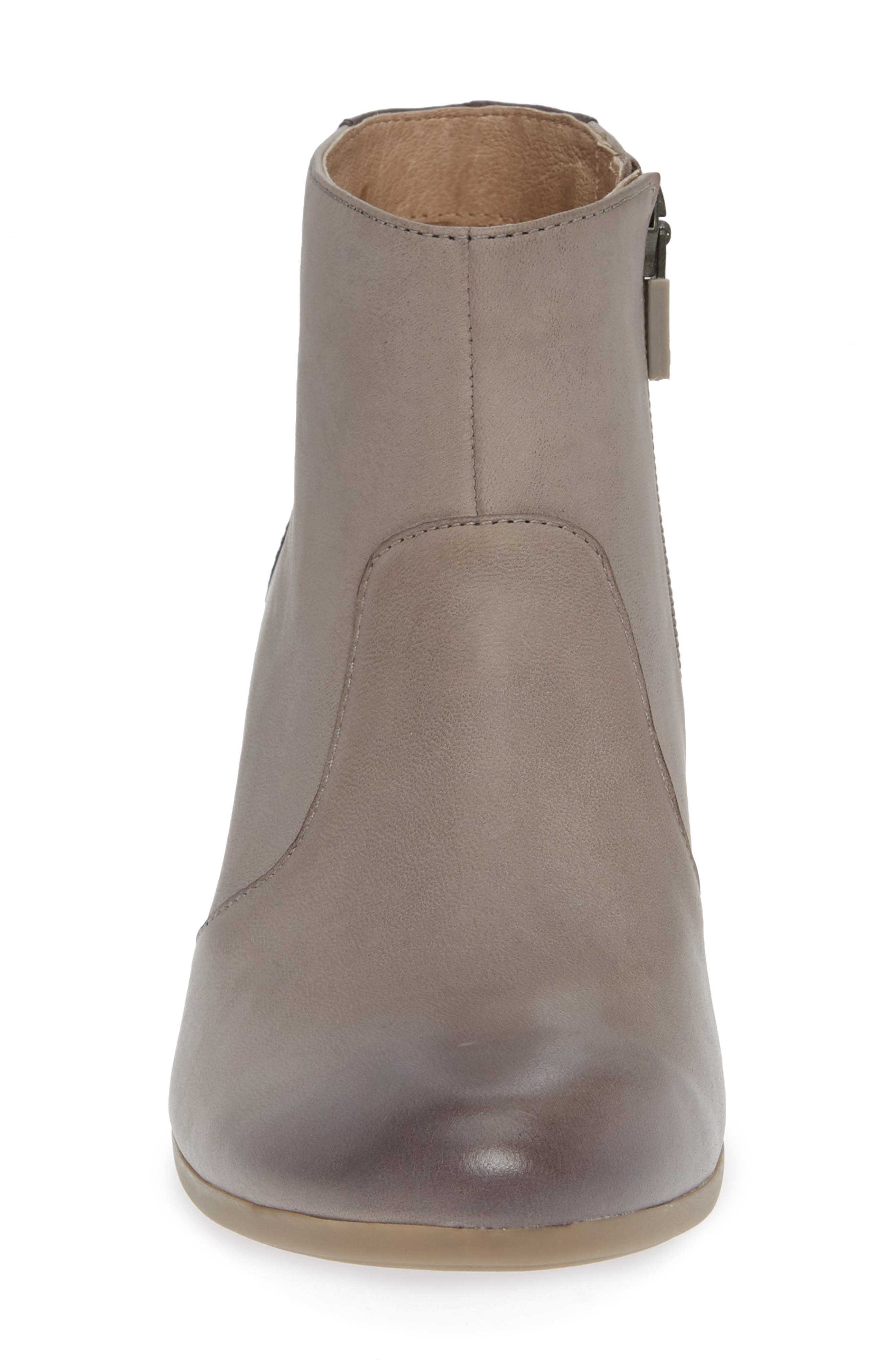 Petra Bootie,                             Alternate thumbnail 4, color,                             STONE BURNISHED NUBUCK LEATHER