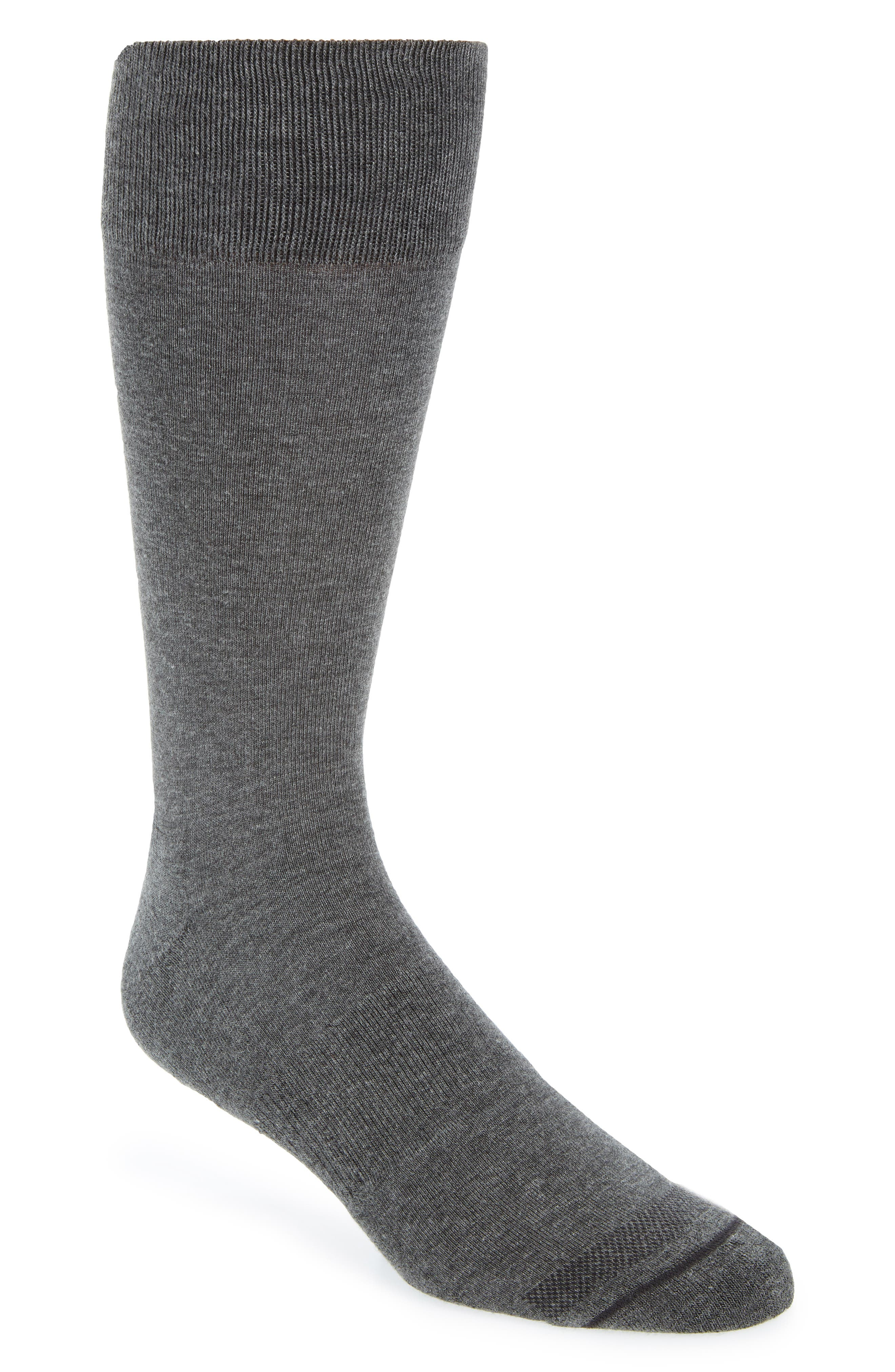 Heather Socks,                             Main thumbnail 1, color,                             CHARCOAL HEATHER