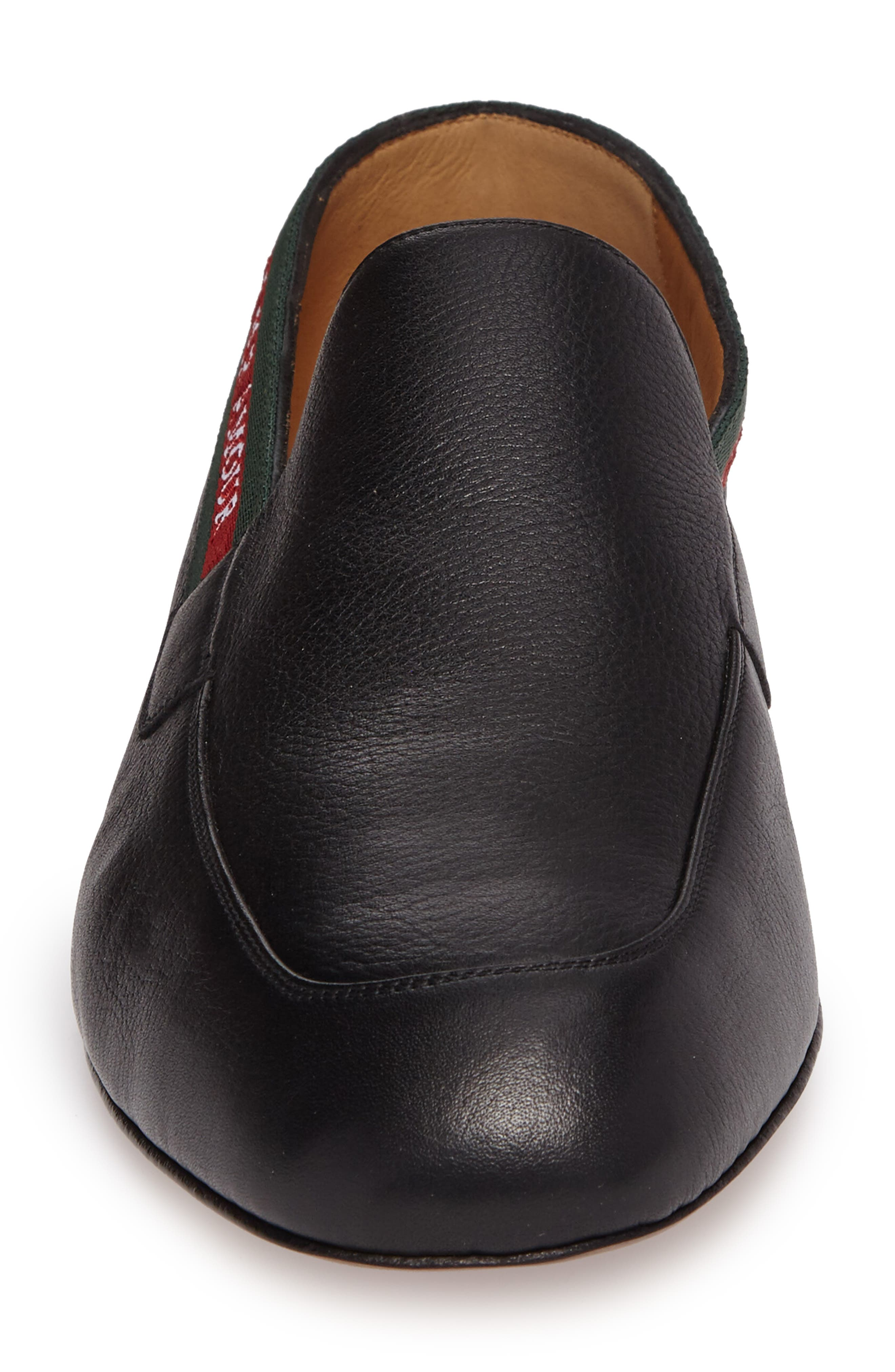 Web Detail Leather Loafer,                             Alternate thumbnail 4, color,                             013