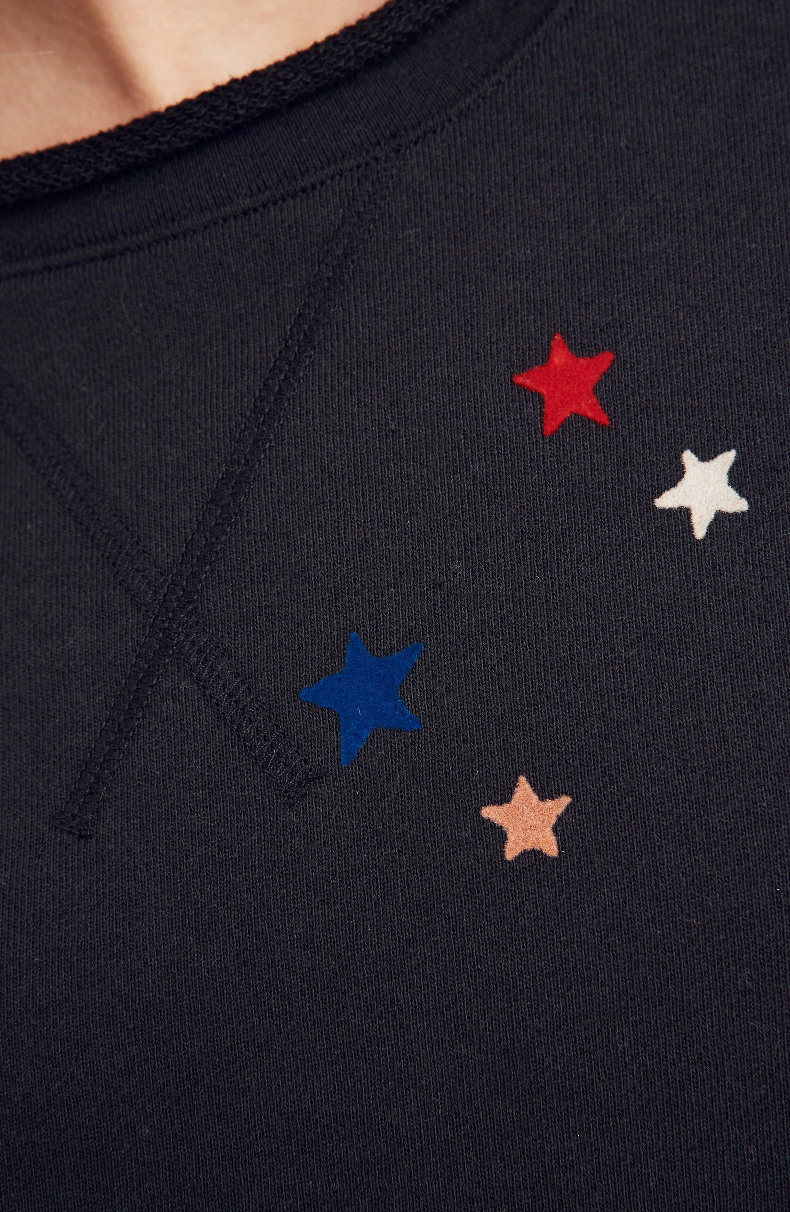 Starry Night Sweatshirt,                             Alternate thumbnail 5, color,                             009