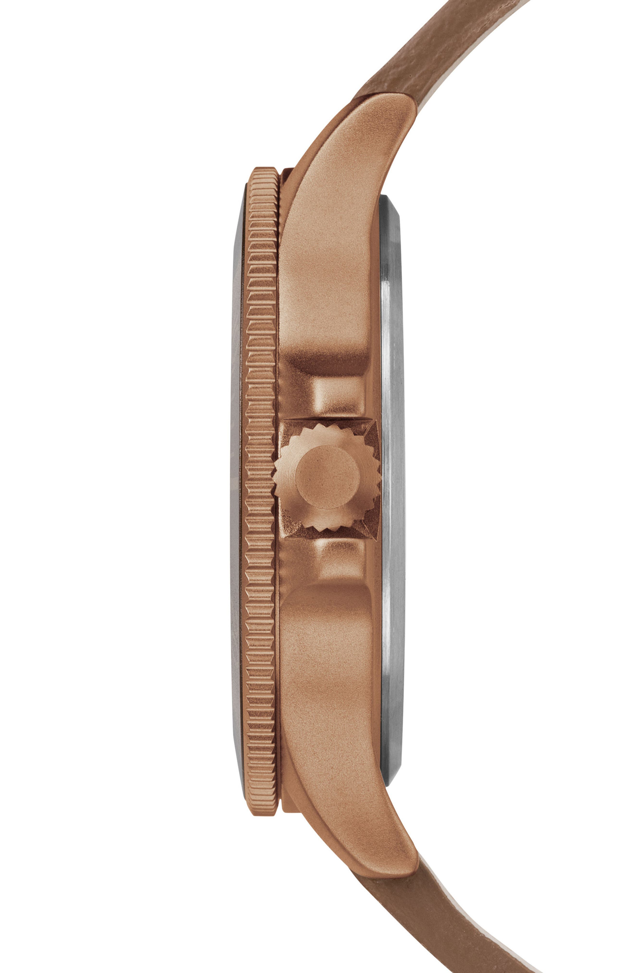 Allied Leather Strap Watch, 43mm,                             Alternate thumbnail 4, color,