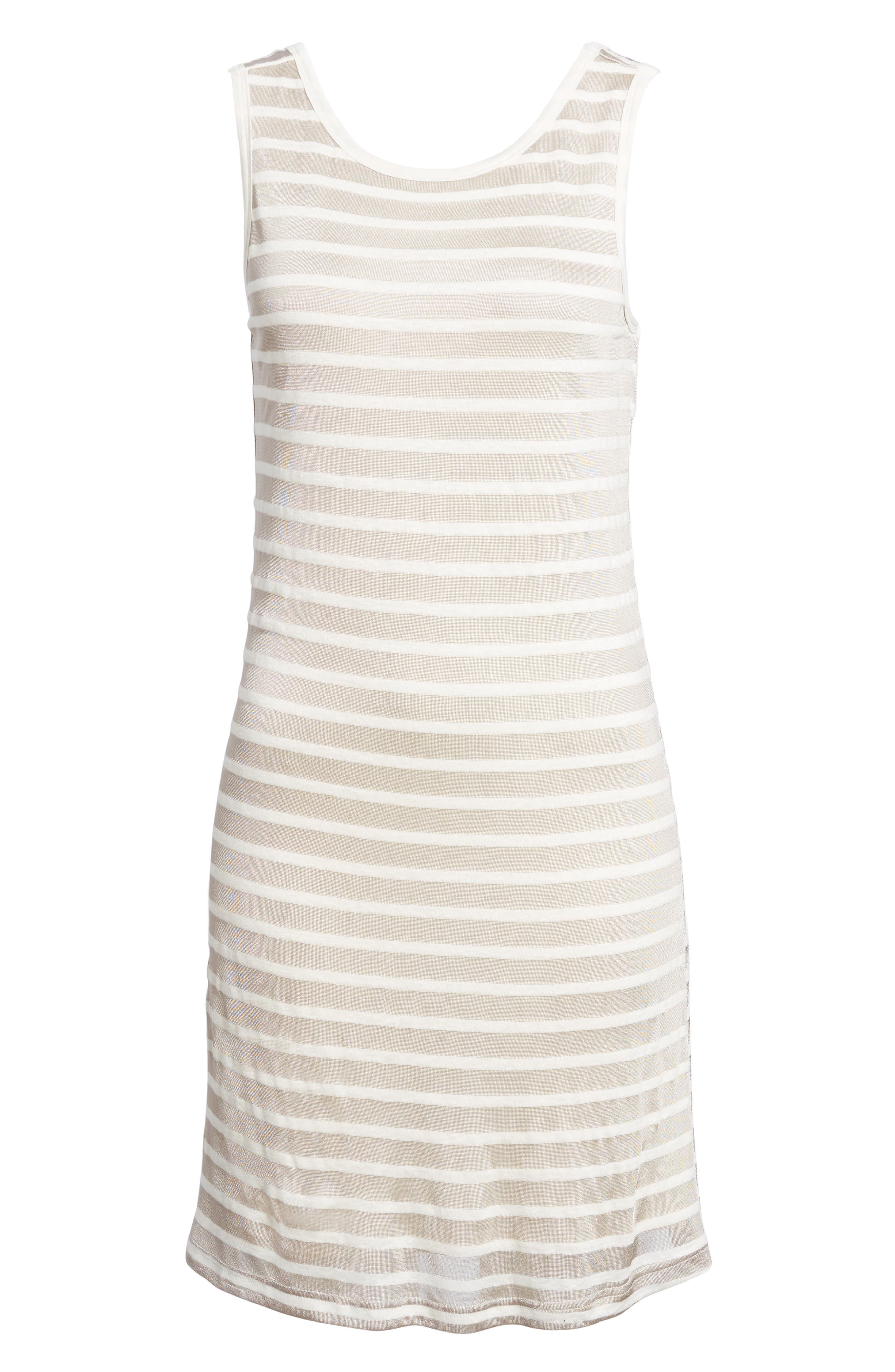Stripe Linen Tank Dress,                             Alternate thumbnail 6, color,                             260