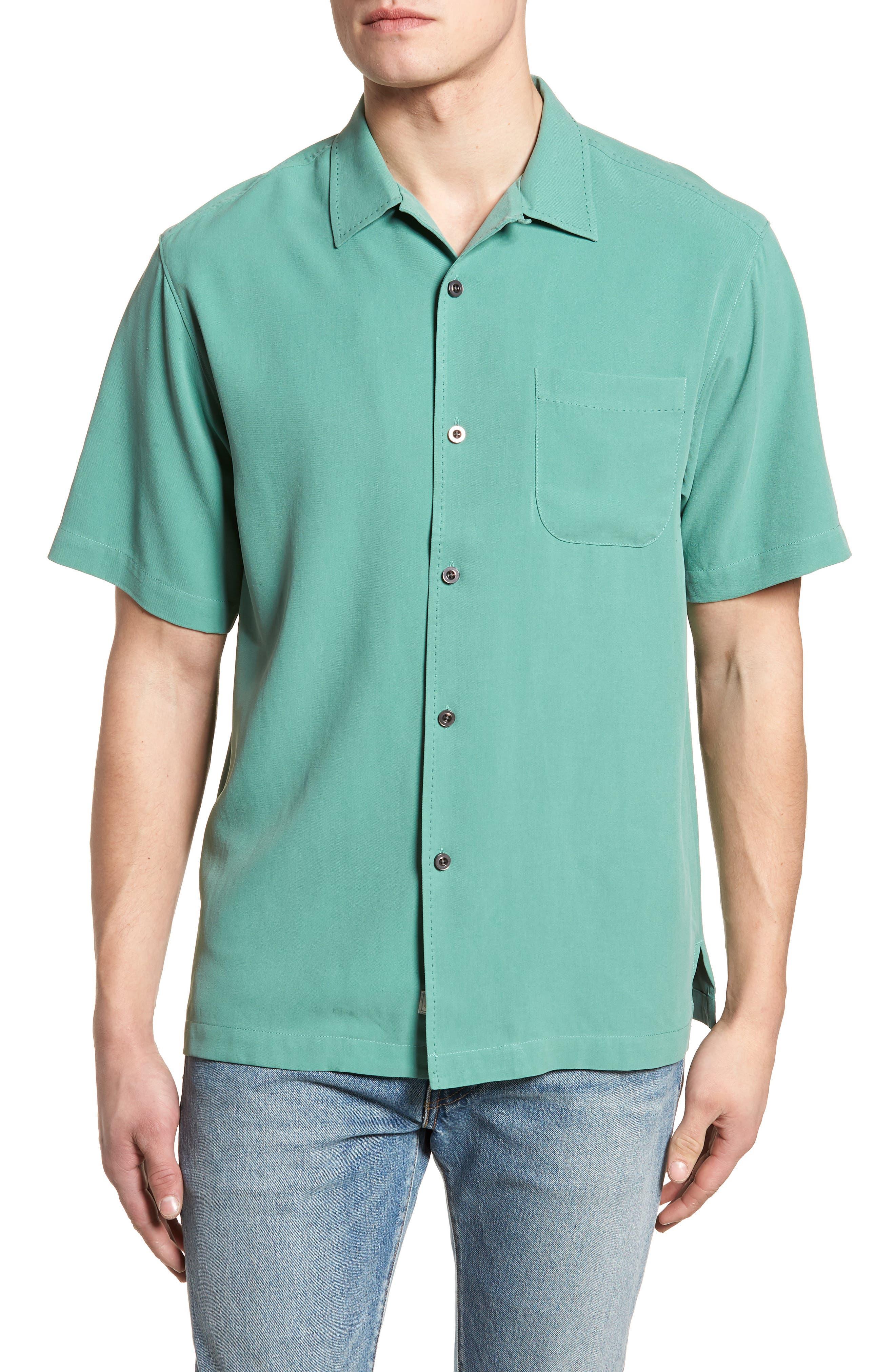 'Catalina Twill' Original Fit Silk Camp Shirt,                         Main,                         color, 306
