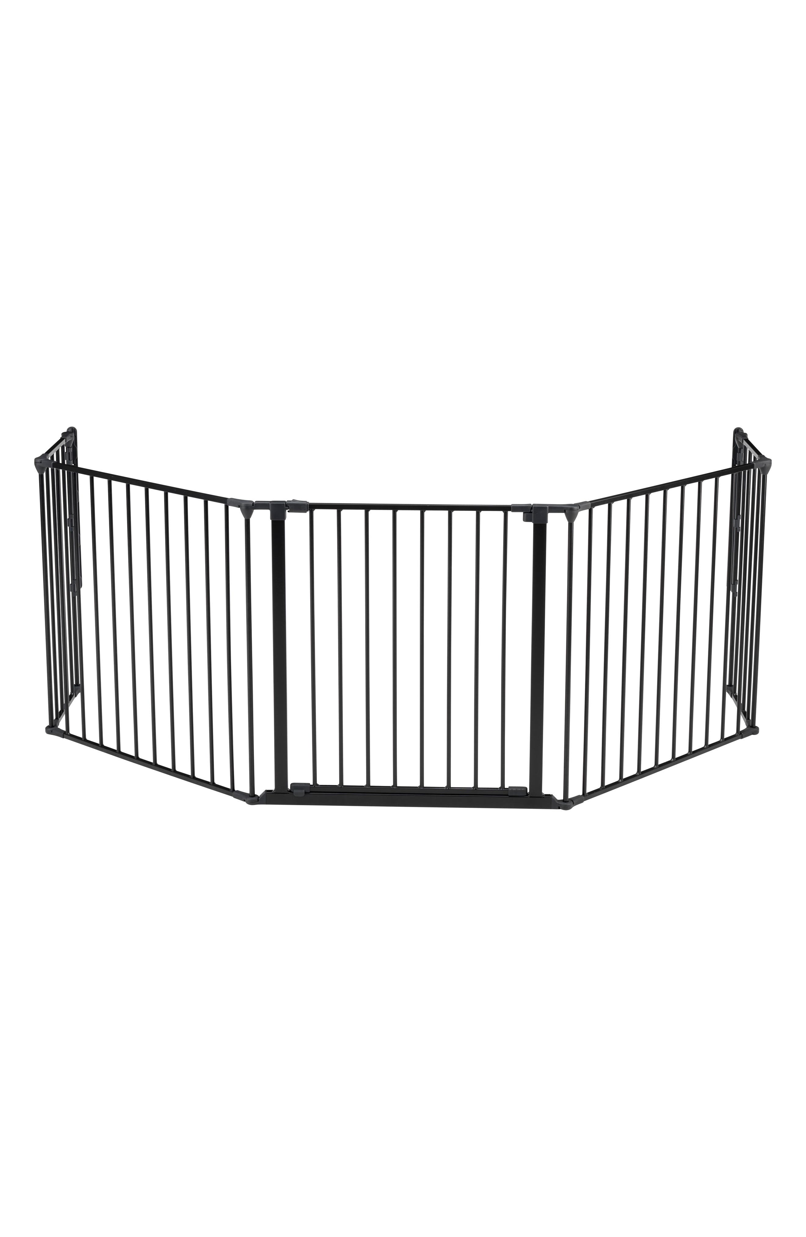 Flex XL Metal Hearth Gate,                             Main thumbnail 1, color,                             BLACK