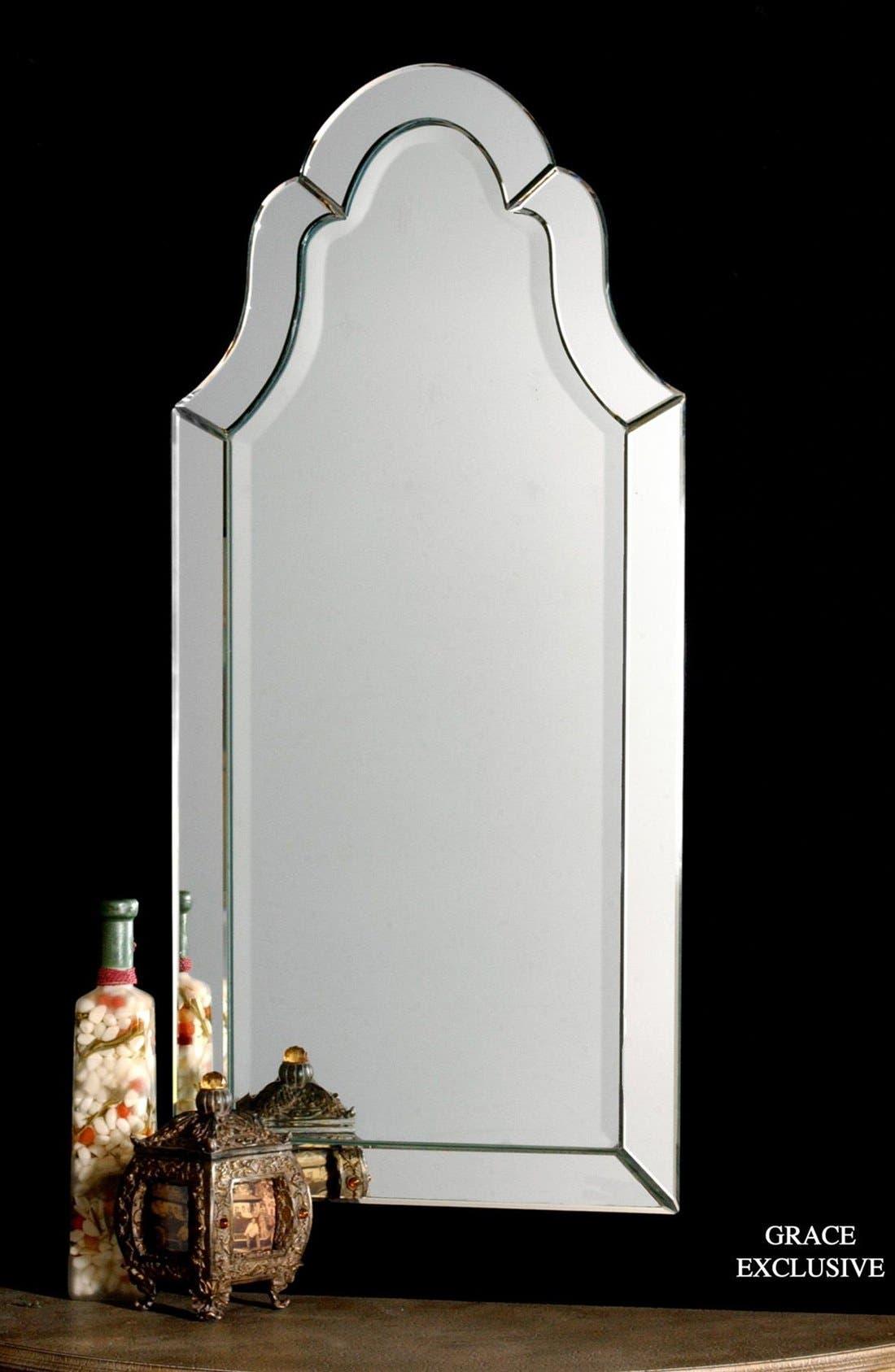 'Hovan' Frameless Arch Mirror,                             Alternate thumbnail 3, color,                             100