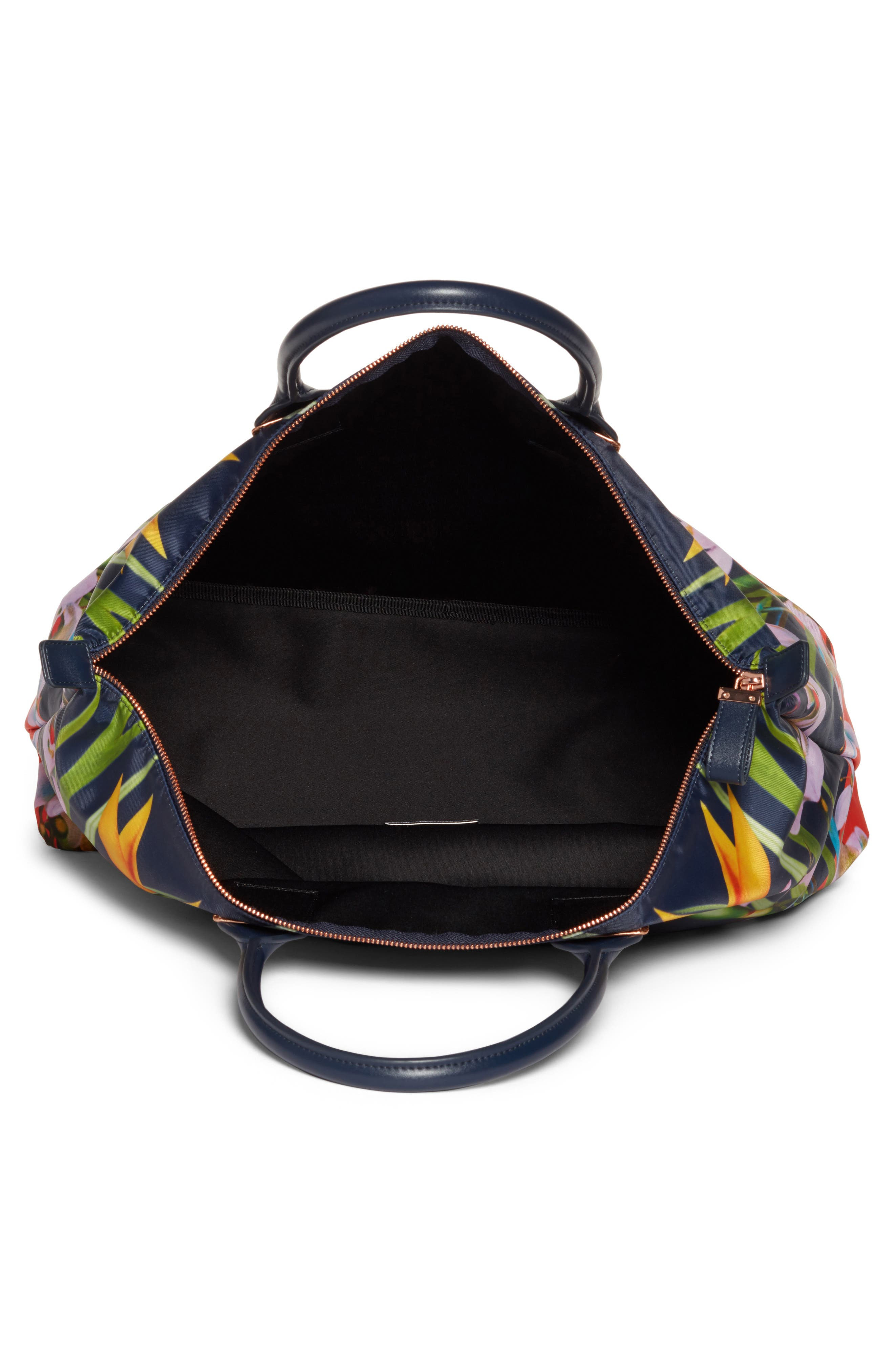 Tropical Oasis Large Tote,                             Alternate thumbnail 4, color,                             410