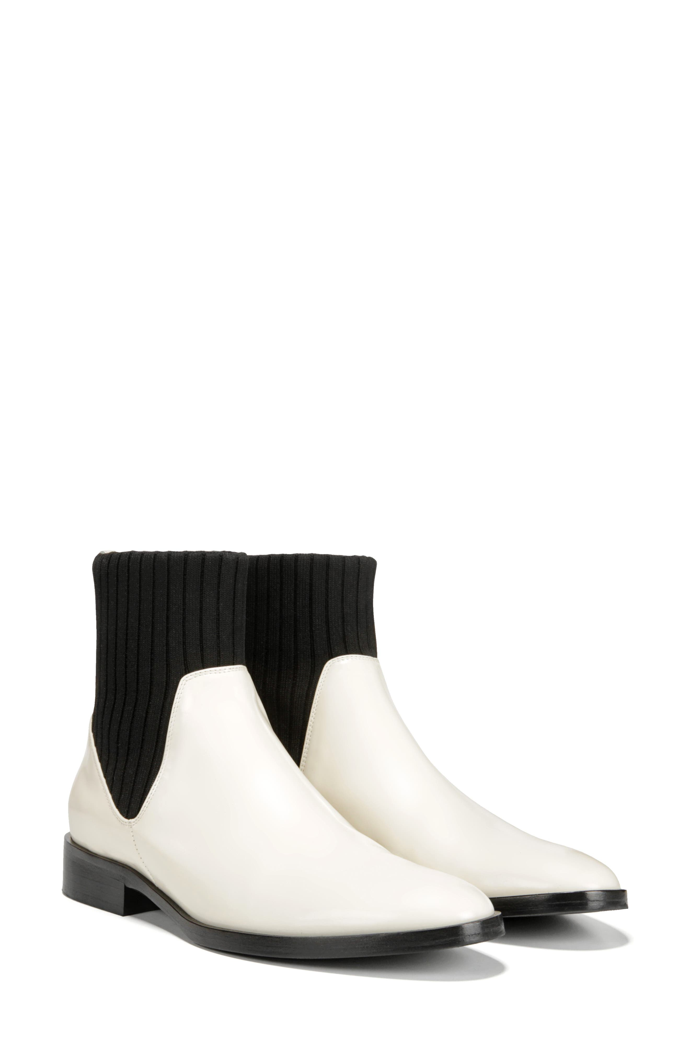 Perlow Sock Bootie,                             Alternate thumbnail 6, color,                             WHITE