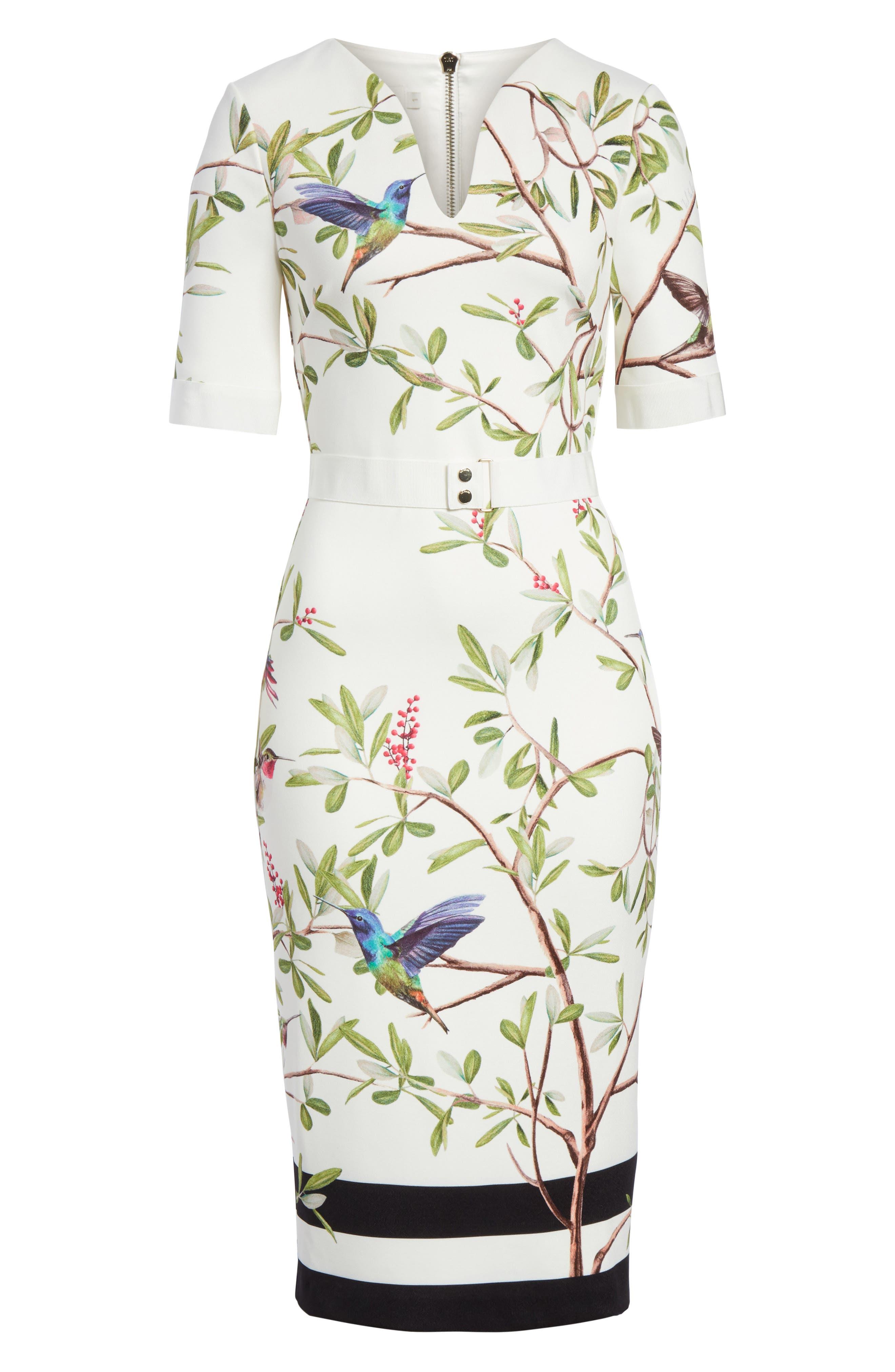 Highgrove Body-Con Dress,                             Alternate thumbnail 6, color,                             110