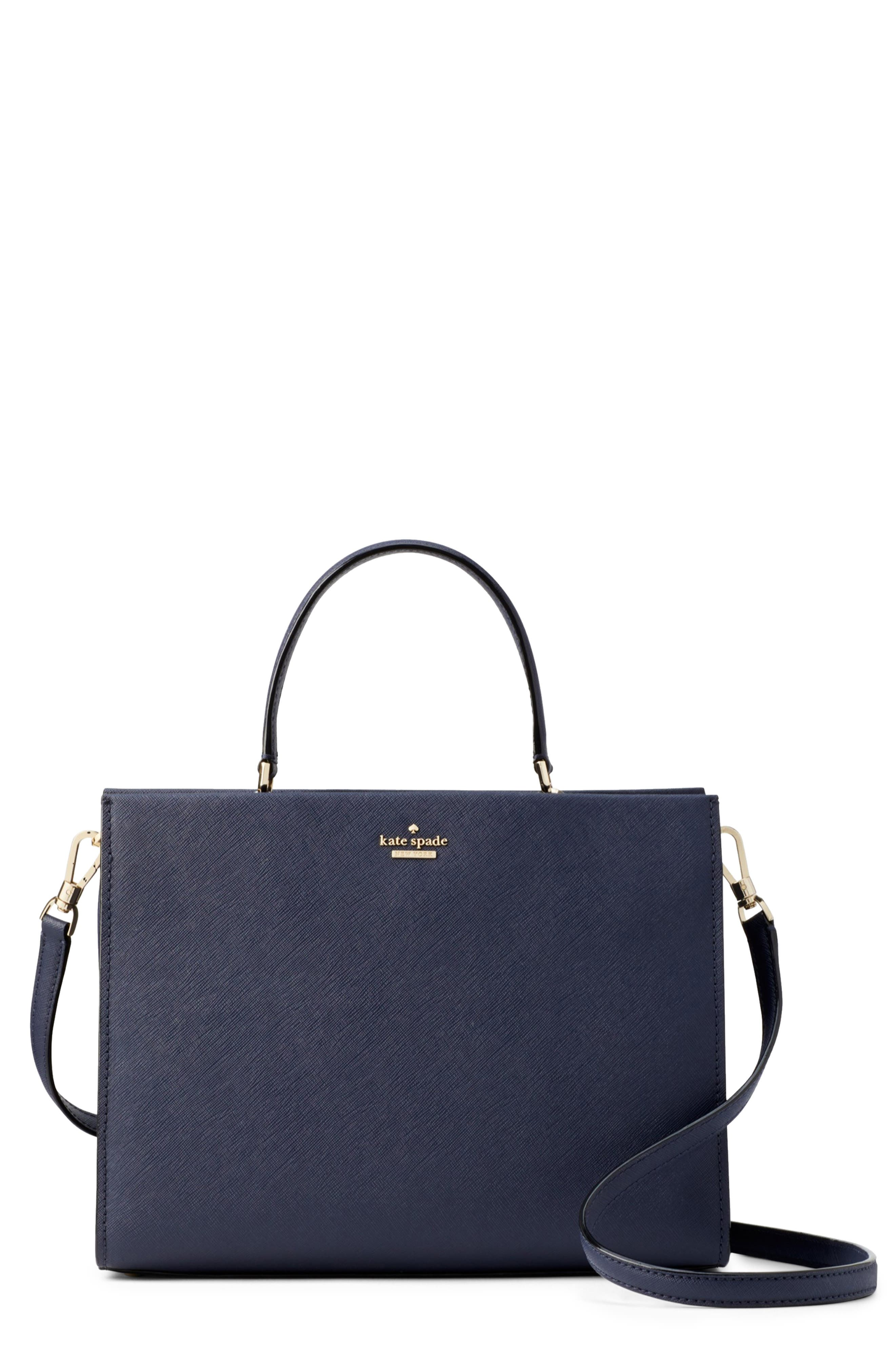 cameron street - sara leather satchel,                             Main thumbnail 1, color,                             BLAZER BLUE