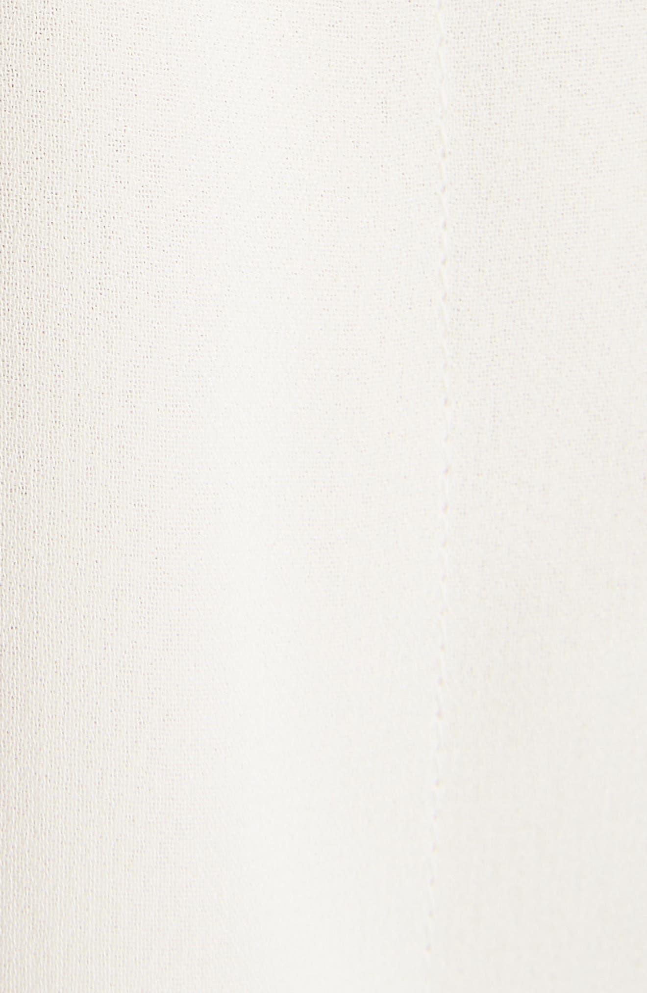 Lavalliere Tunic Blouse,                             Alternate thumbnail 5, color,                             WHITE/ IVORY