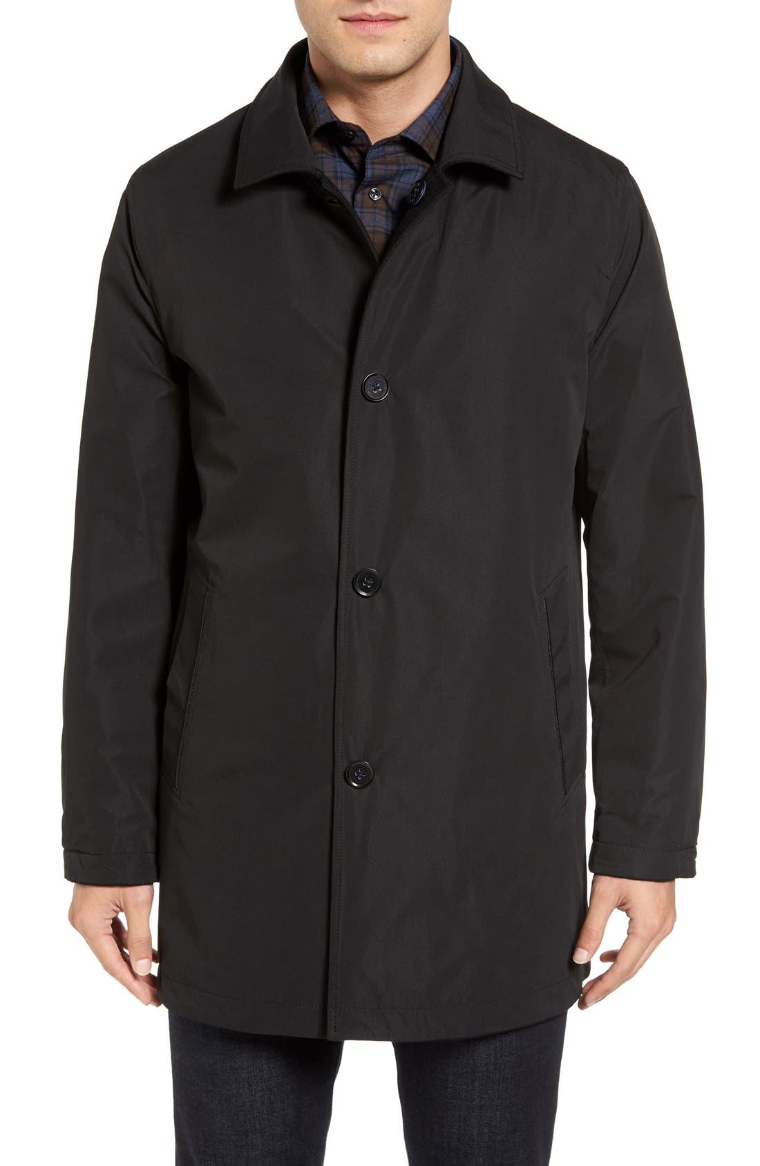 Cole Haan Reversible Wool Blend Overcoat,                             Alternate thumbnail 4, color,