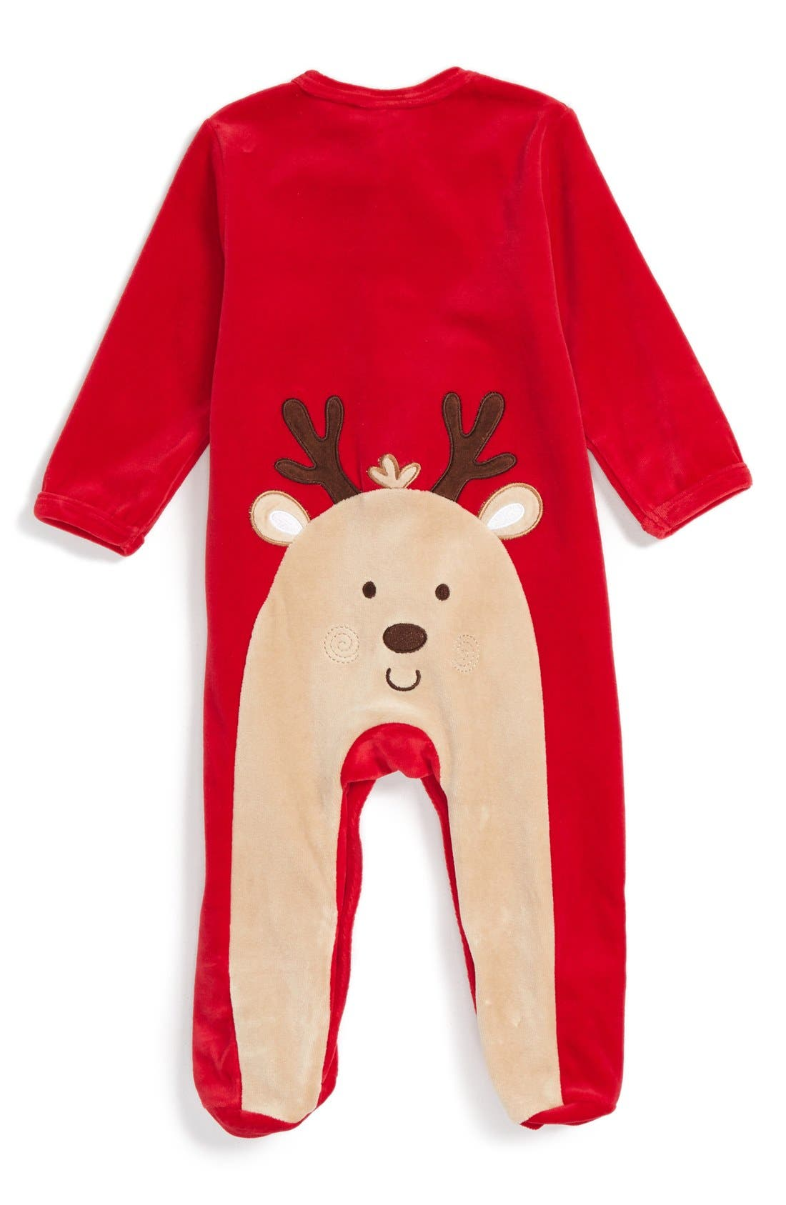 'My First Christmas' Velour One-Piece,                             Alternate thumbnail 2, color,                             600