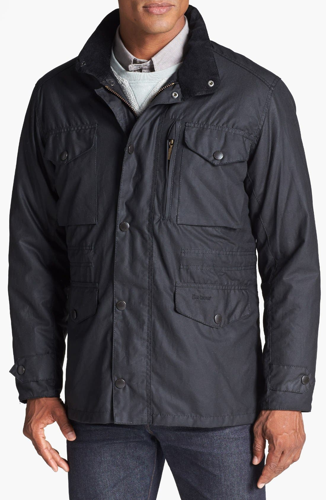 'Sapper' Weatherproof Waxed Relaxed Fit Jacket,                         Main,                         color, 001