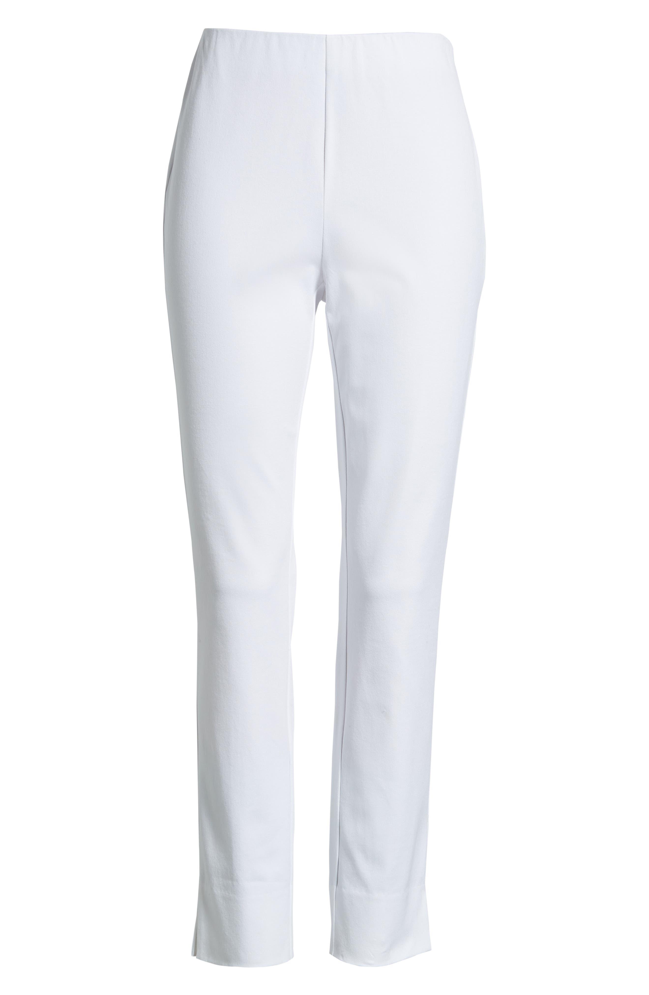 Skinny Stretch Pants,                             Alternate thumbnail 7, color,                             WHITE