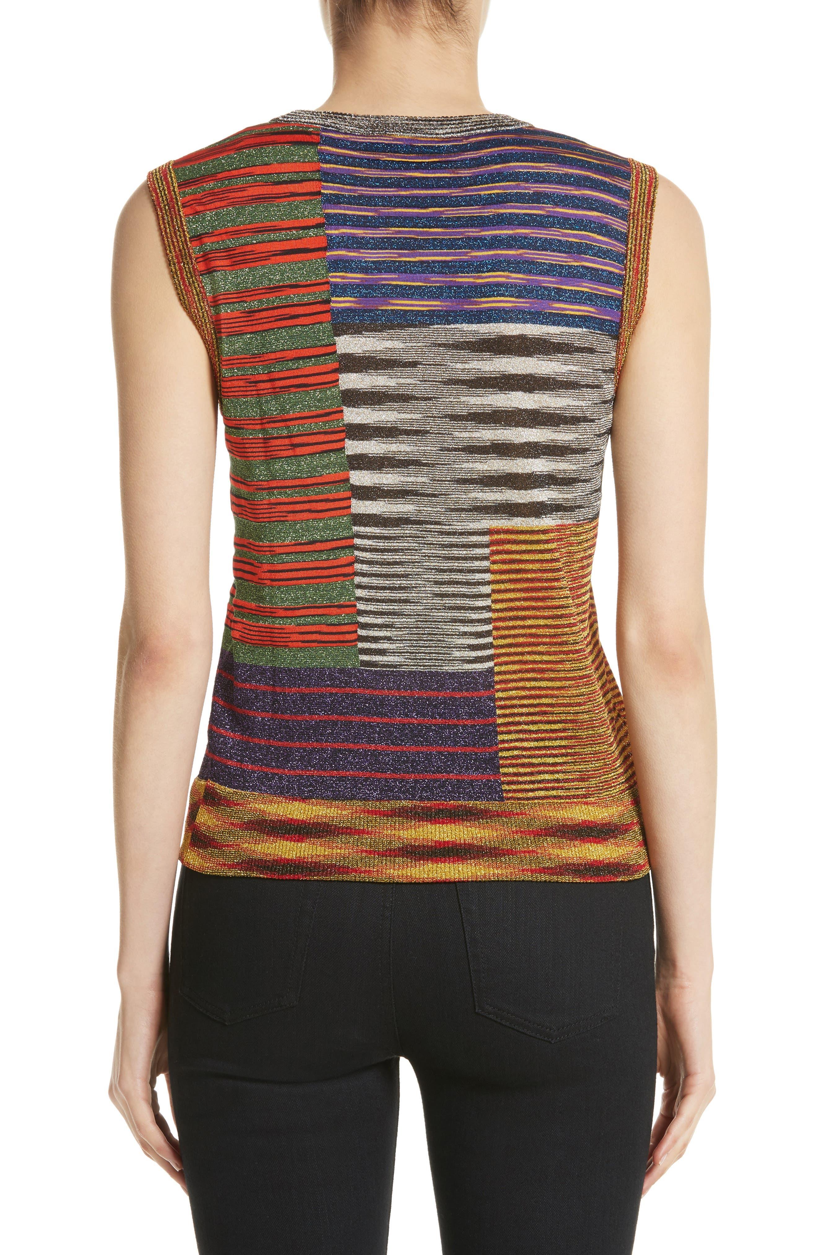 Stripe Space Dye Knit Tank,                             Alternate thumbnail 2, color,                             540