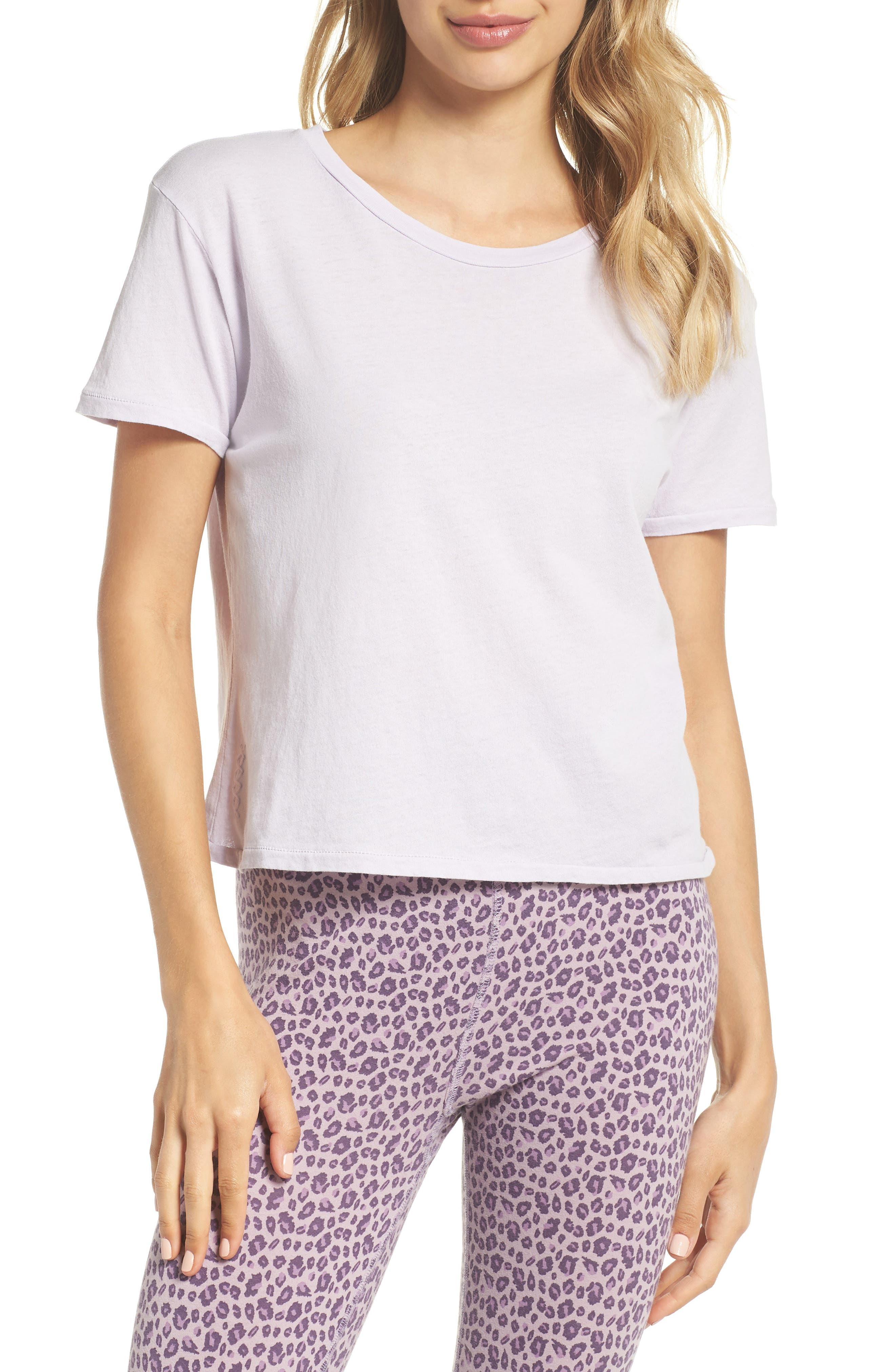 Crop Tee,                             Main thumbnail 1, color,                             LILAC