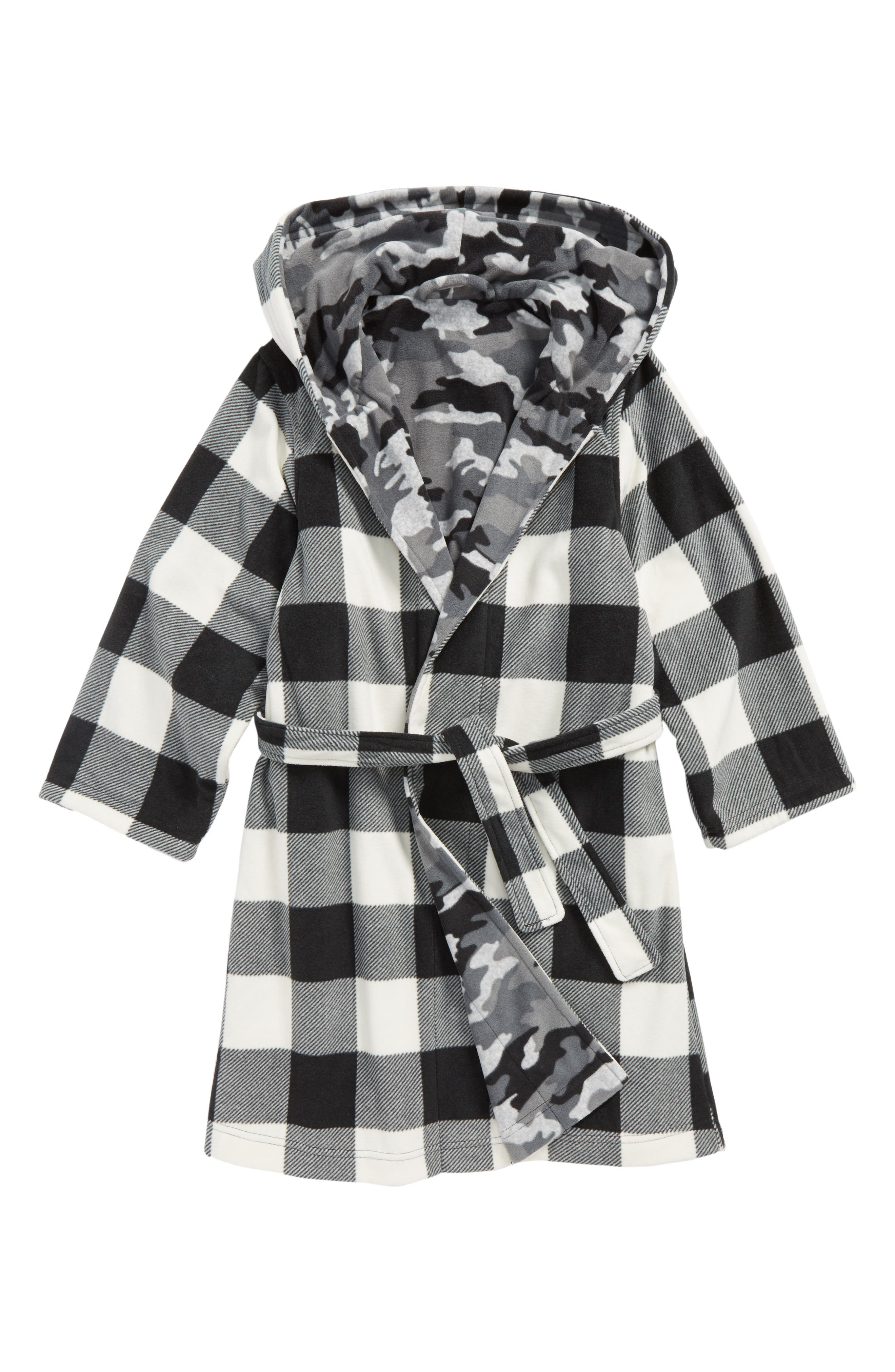 Reversible Hooded Robe,                             Alternate thumbnail 2, color,                             GREY ASH HEATHER CAMO