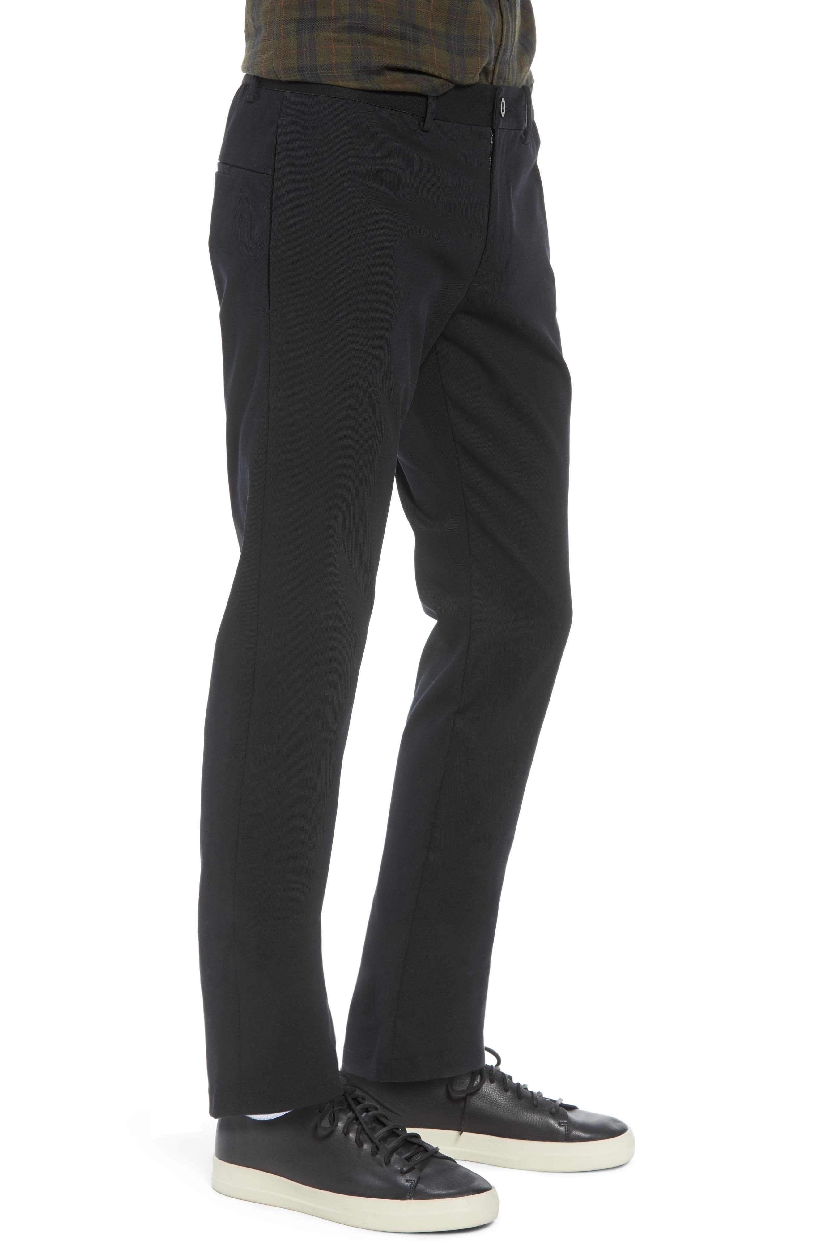 Slater Classic Fit Chinos,                             Alternate thumbnail 3, color,                             BLACK