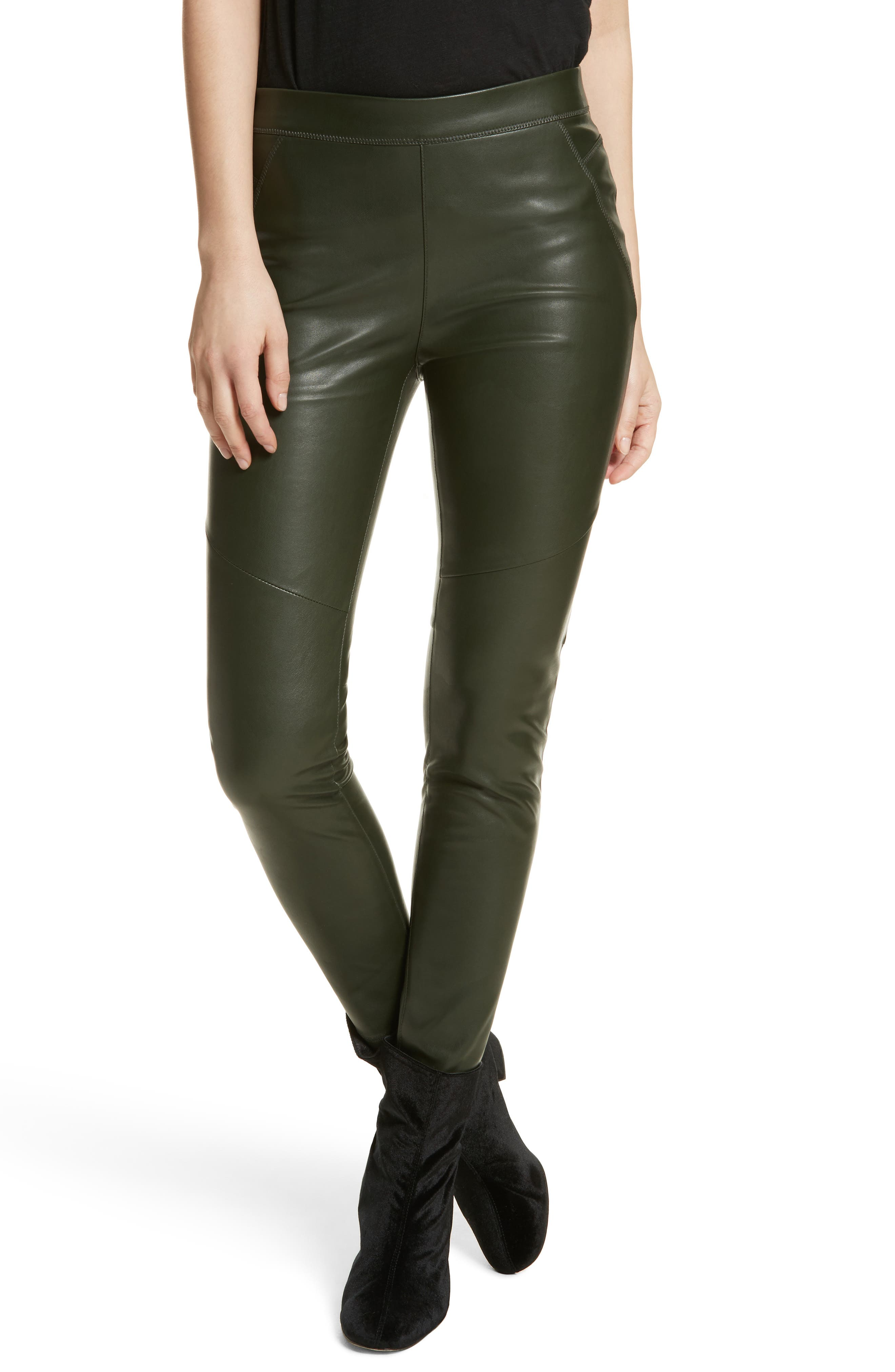 Faux Leather Leggings,                             Main thumbnail 1, color,                             303
