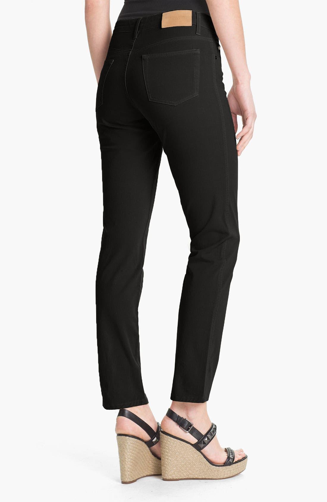 FABRIZIO GIANNI,                             5-Pocket Slim Stretch Jeans,                             Alternate thumbnail 2, color,                             001