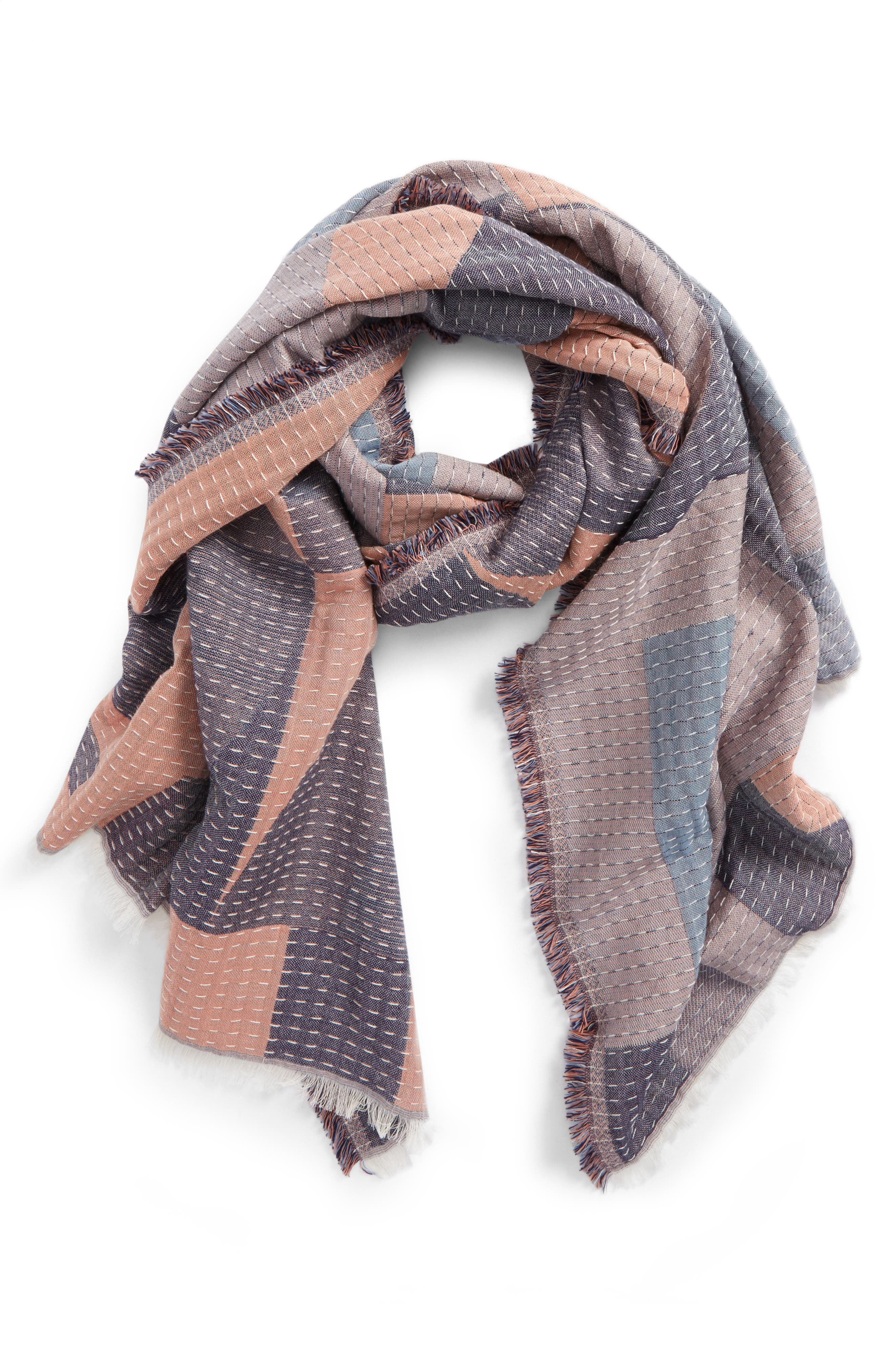 New Forms Stitched Scarf,                         Main,                         color, 950