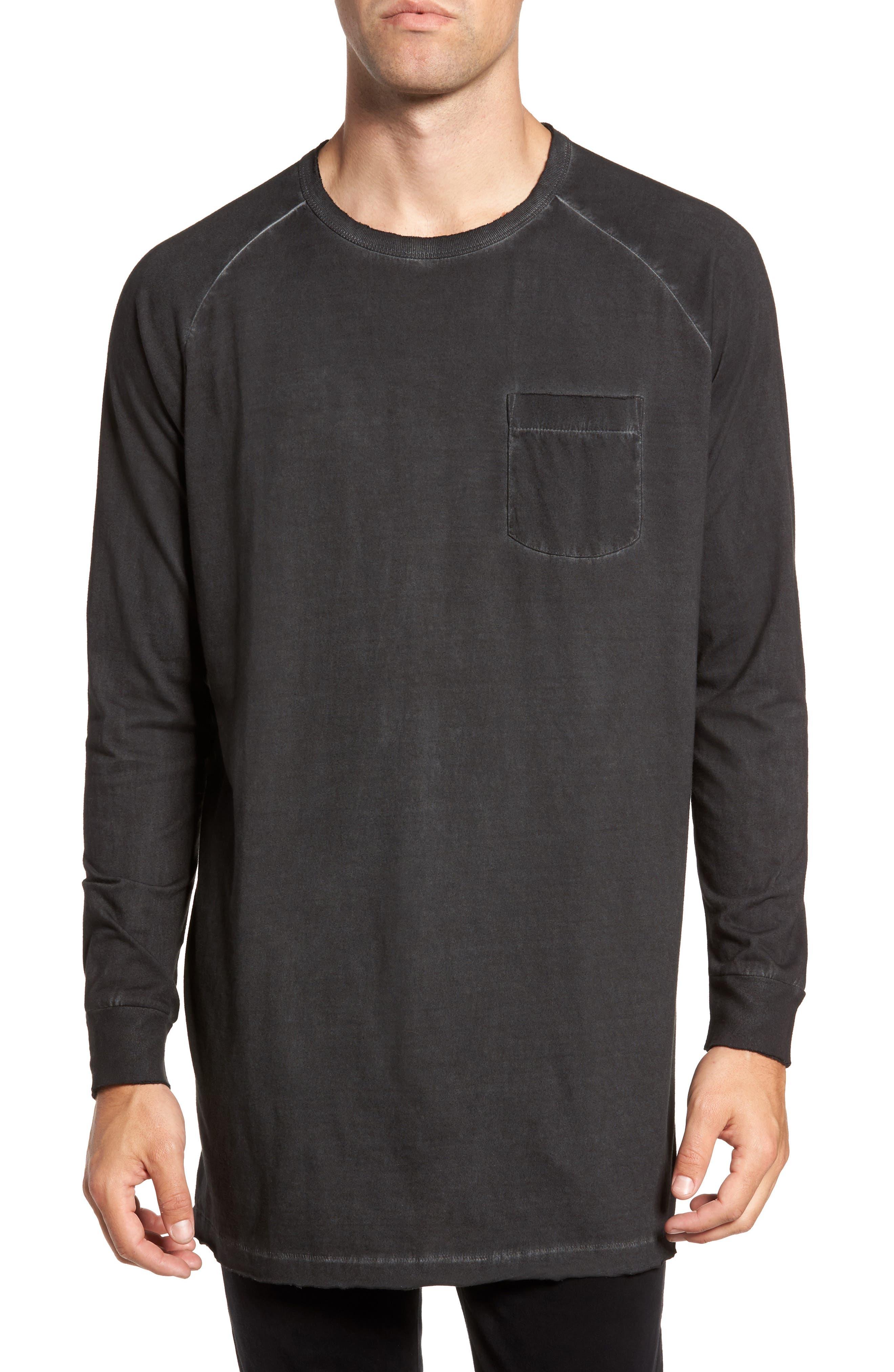 Pigment Dye Longline T-Shirt,                             Main thumbnail 1, color,