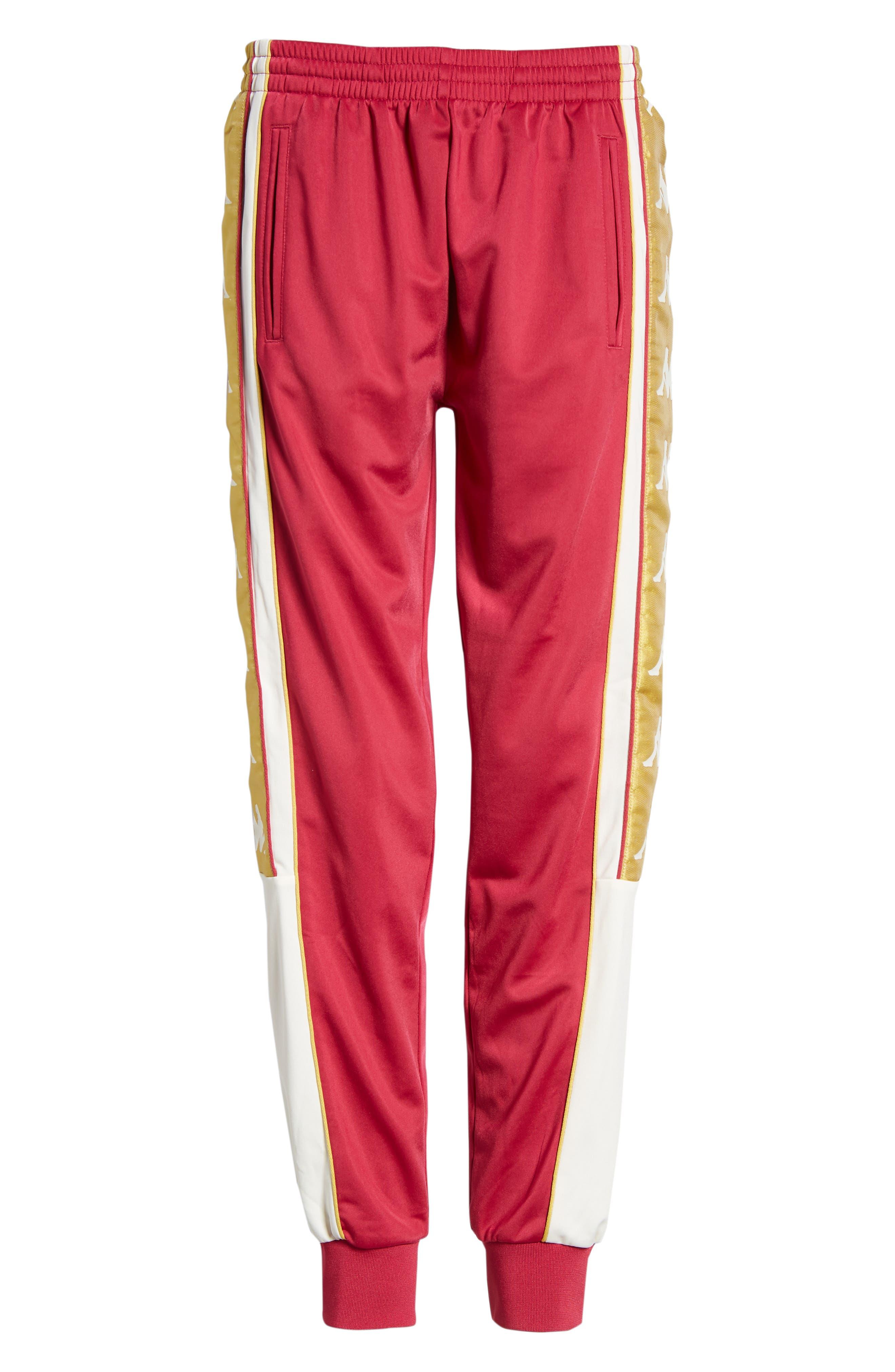 Track Pants,                             Alternate thumbnail 6, color,                             REDCERISE-WHITE-GOLD