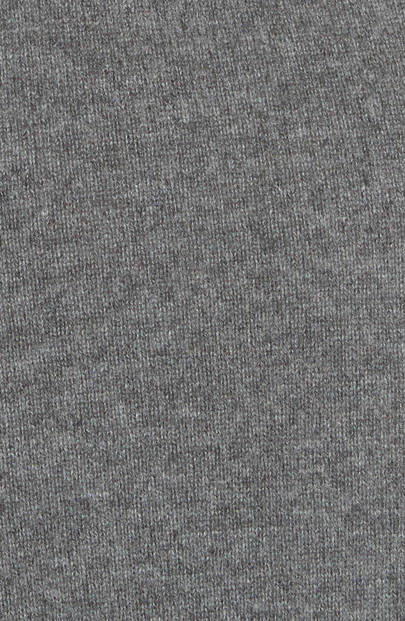 Diane Von Furstenberg Linda Cashmere Wrap Dress,                             Alternate thumbnail 5, color,                             001