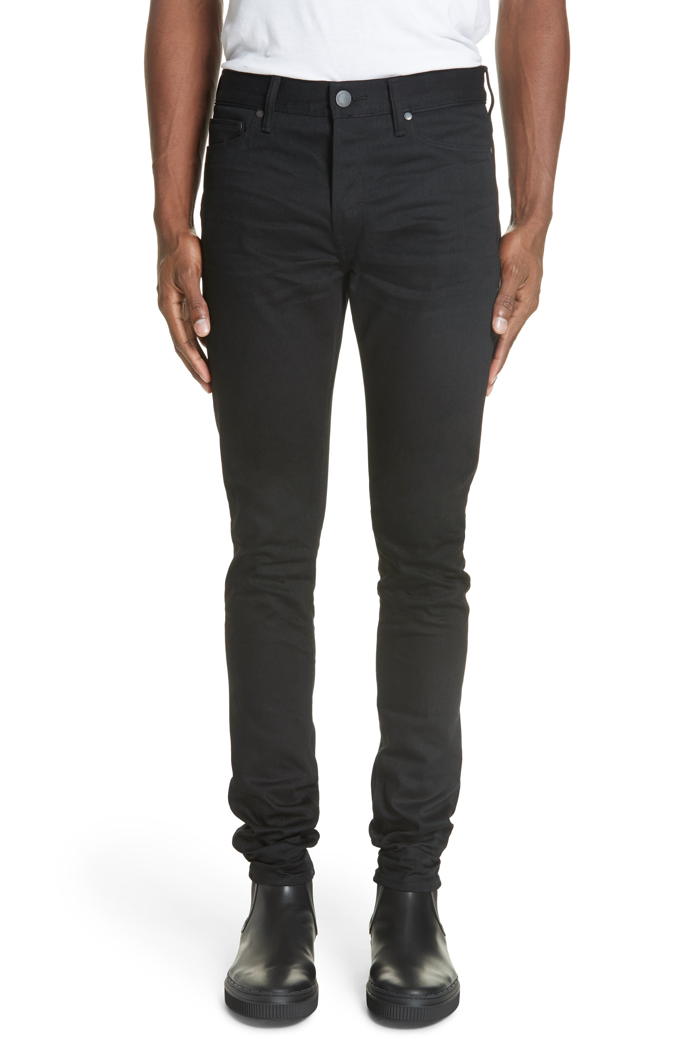 The Cast 2 Skinny Fit Jeans,                             Main thumbnail 1, color,                             OBSIDIAN