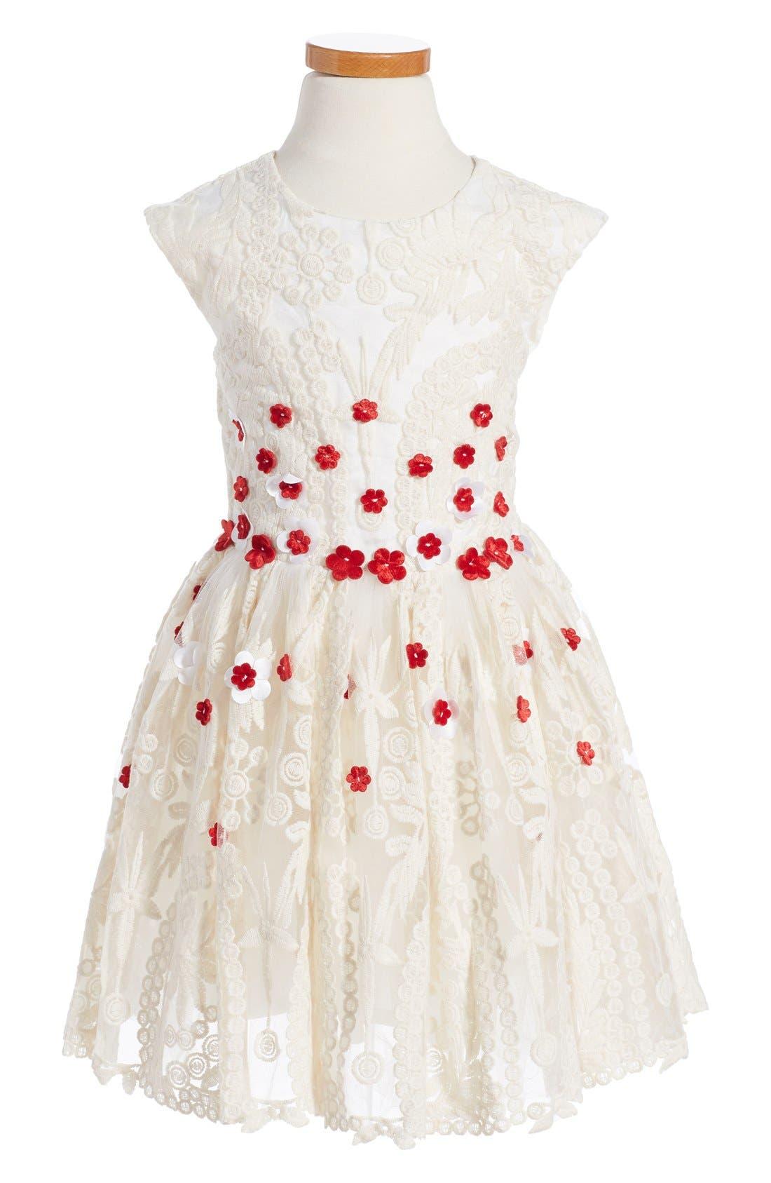HALABALOO,                             Embroidered Flower Dress,                             Main thumbnail 1, color,                             900
