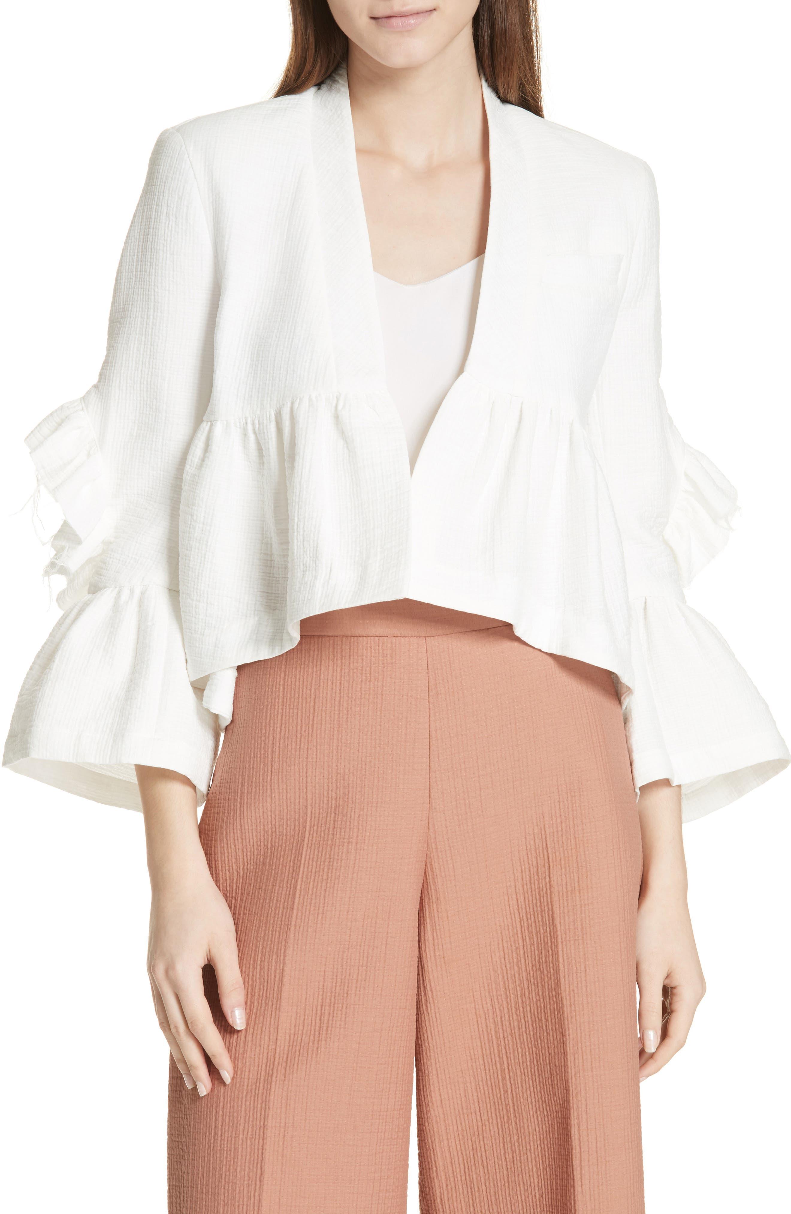 Frida Jacket,                         Main,                         color, WHITE