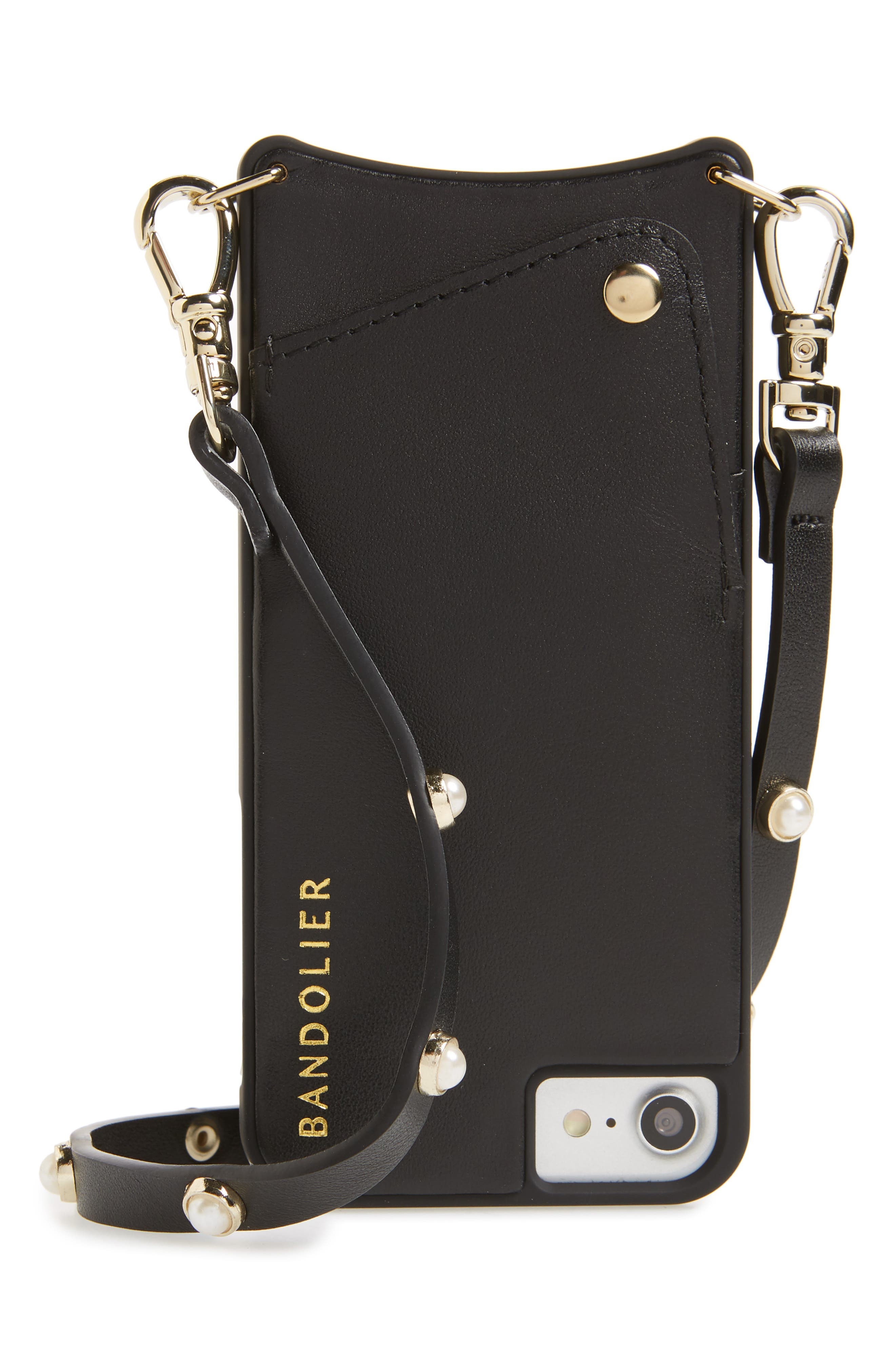 Claire Leather iPhone 7/8 & 7/8 Plus Crossbody Case,                             Main thumbnail 1, color,