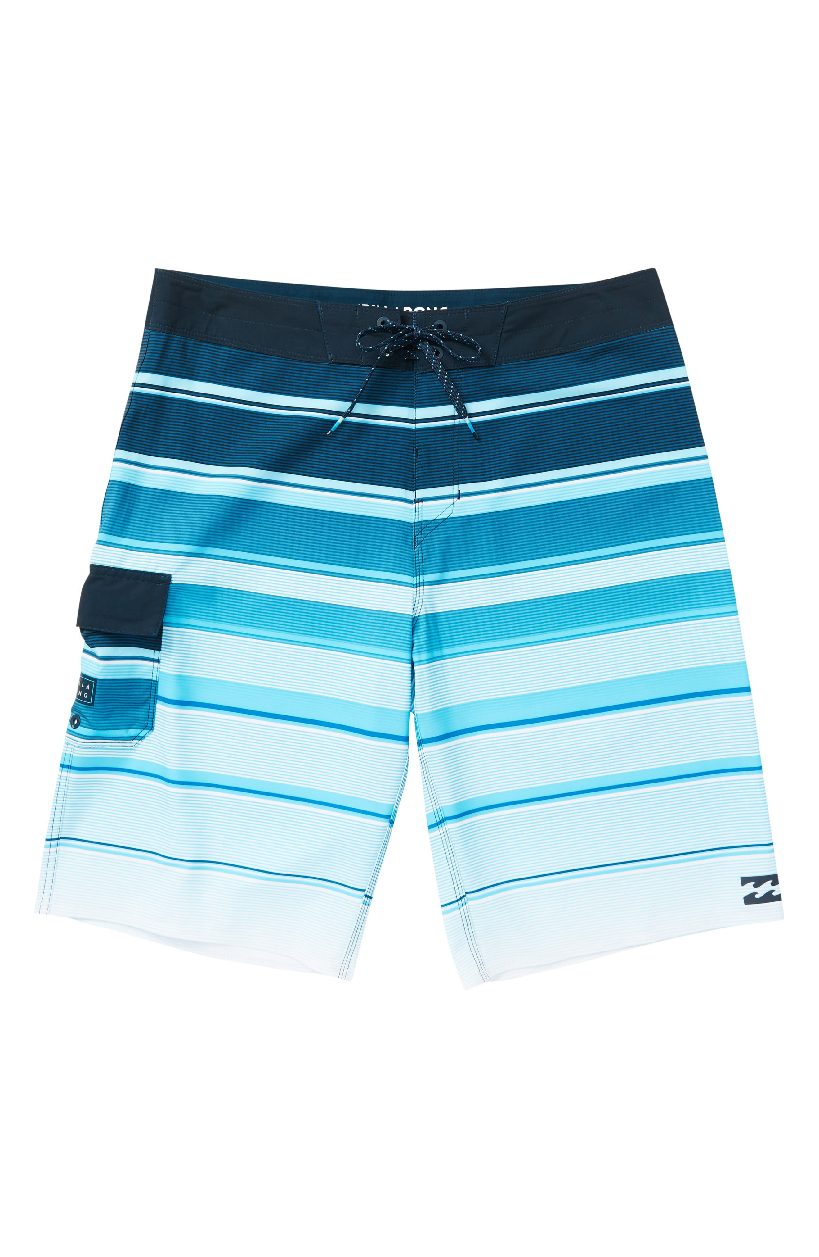 All Day X Stripe Board Shorts,                         Main,                         color, NAVY
