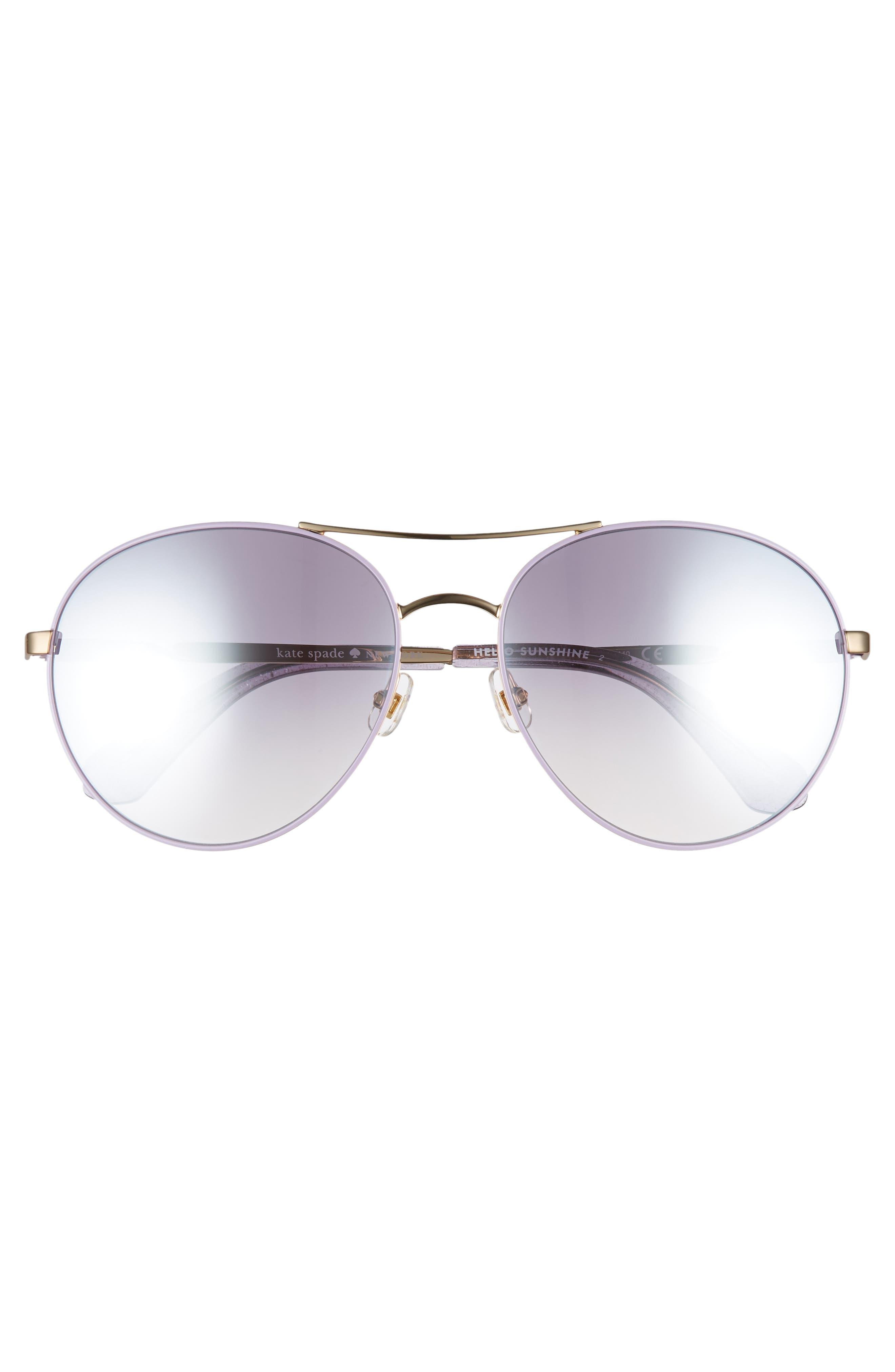 joshelle 60mm aviator sunglasses,                             Alternate thumbnail 3, color,                             PLUM