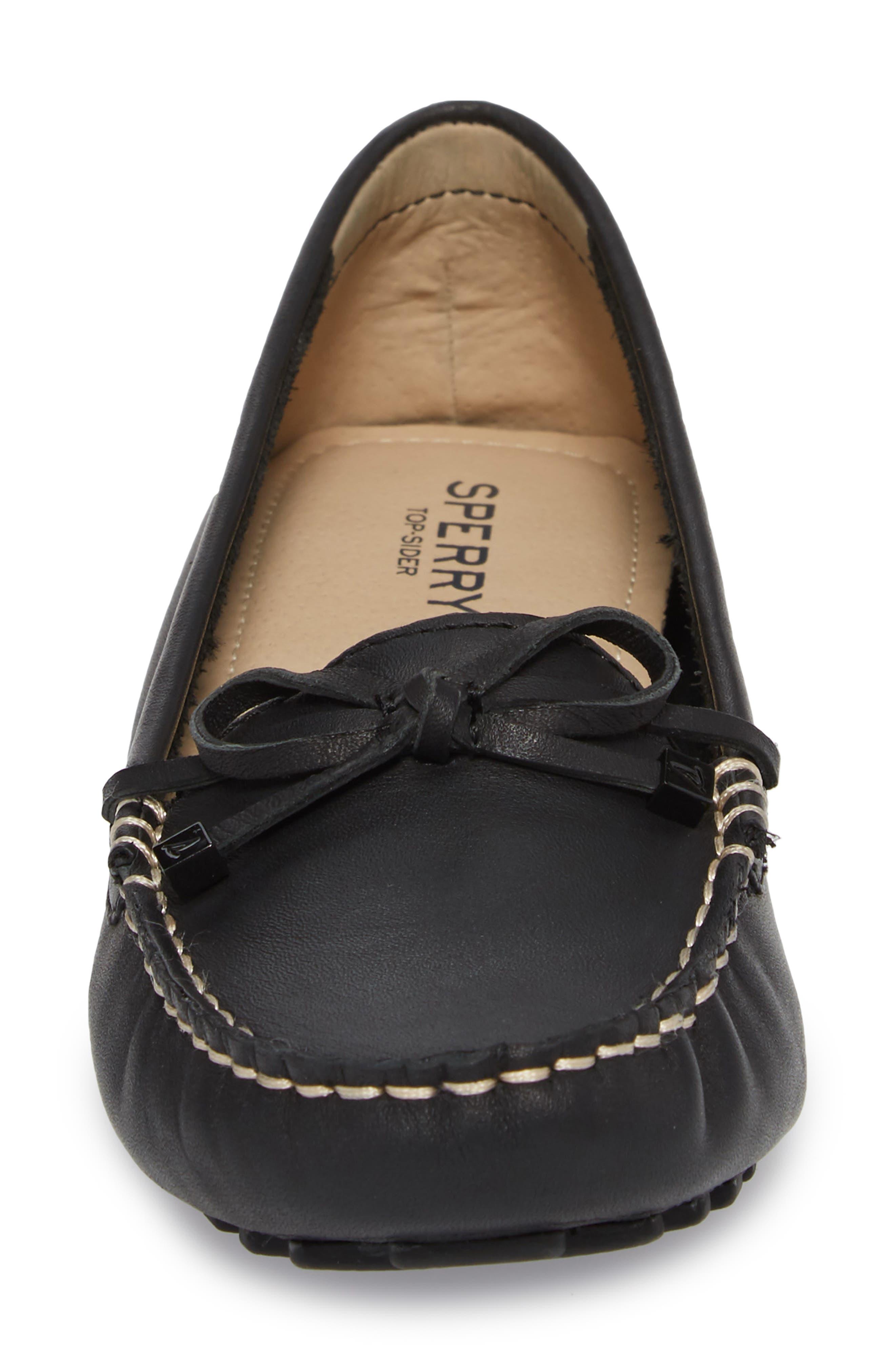 'Katharine' Moc Stitched Loafer,                             Alternate thumbnail 4, color,                             002