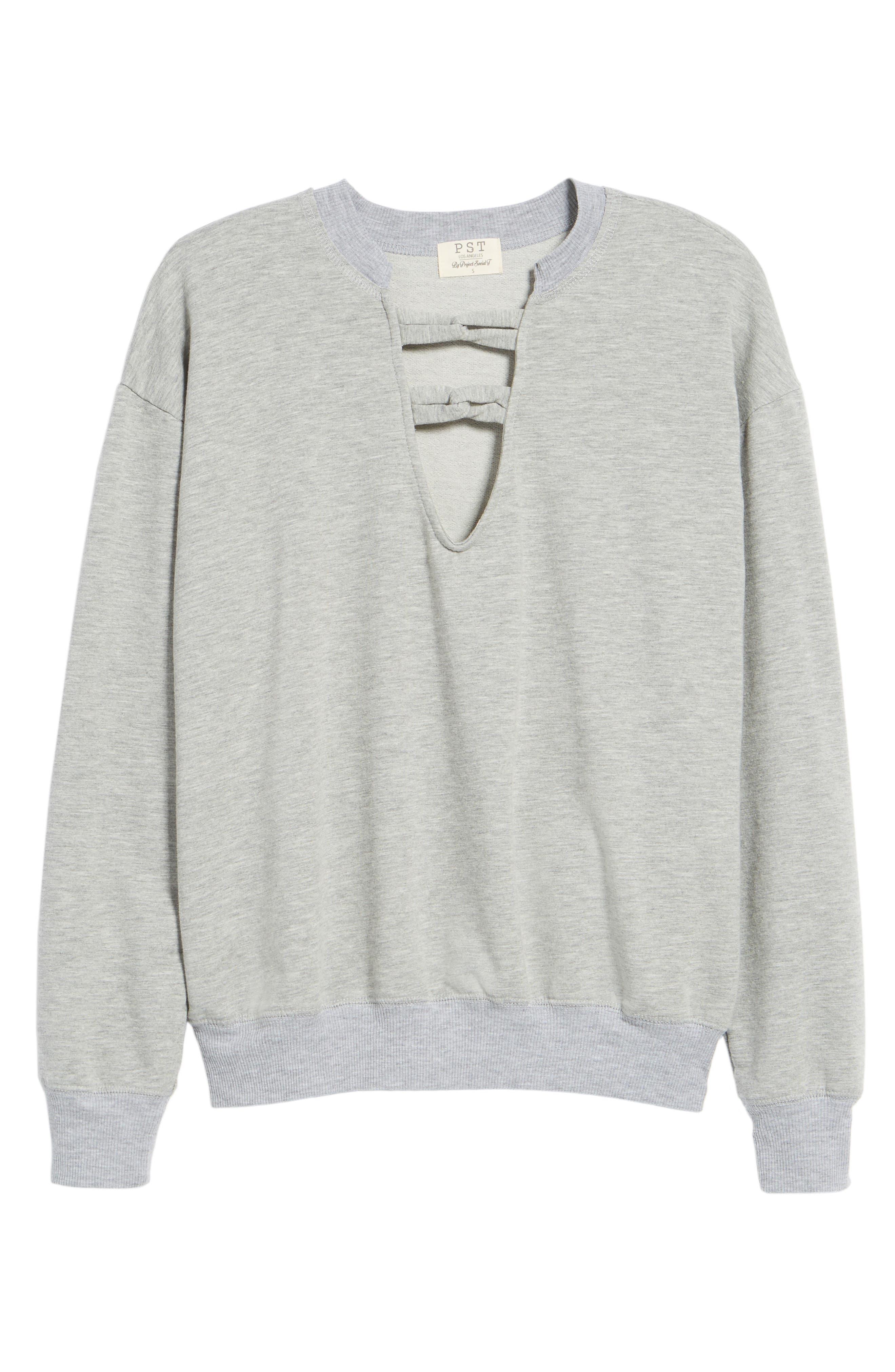 Infinity Knot Sweatshirt,                             Alternate thumbnail 6, color,                             052