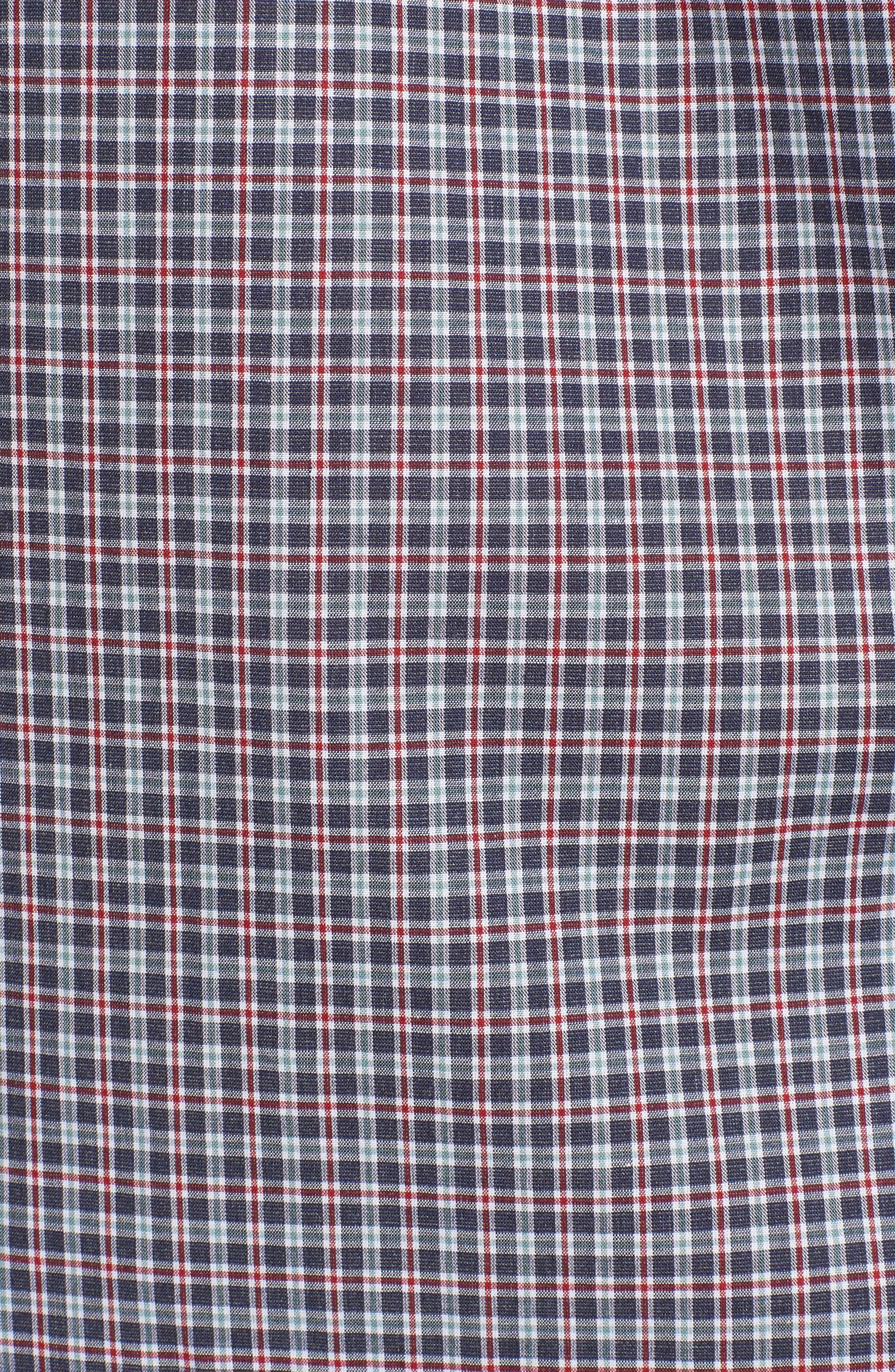 Slim Fit Check Sport Shirt,                             Alternate thumbnail 5, color,                             031