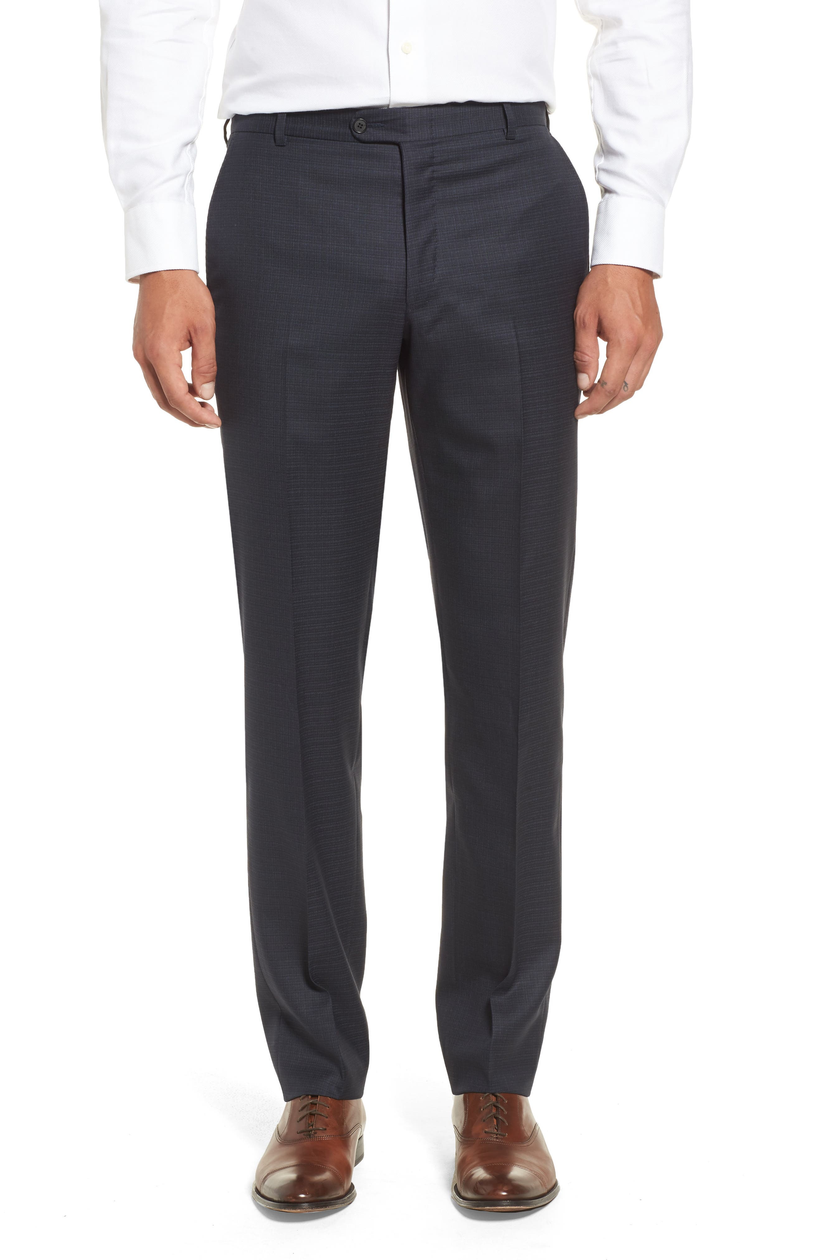 Classic B Fit Check Wool & Cashmere Suit,                             Alternate thumbnail 6, color,