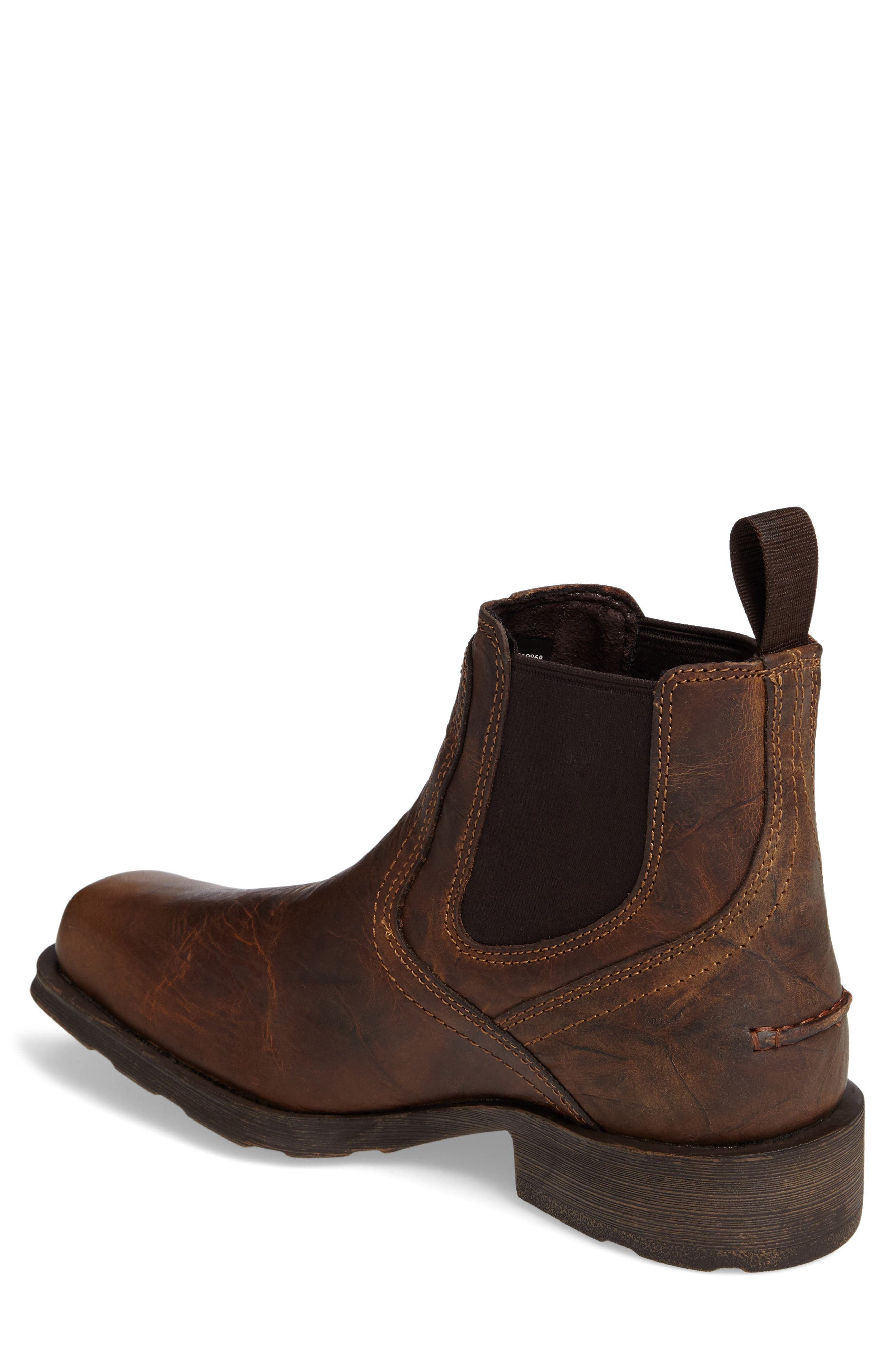 ARIAT,                             Midtown Rambler Mid Chelsea Boot,                             Alternate thumbnail 2, color,                             BARN BROWN