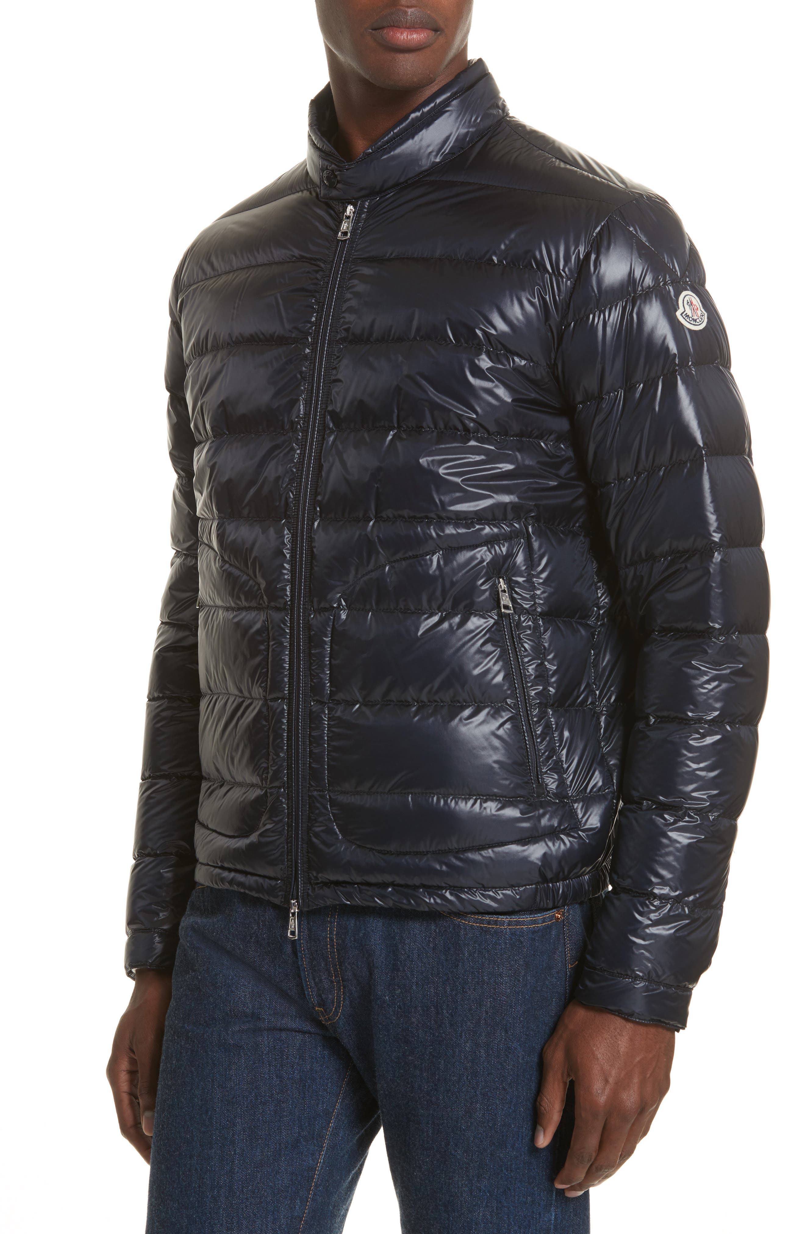 Acorus Down Quilted Jacket,                         Main,                         color, BLUE